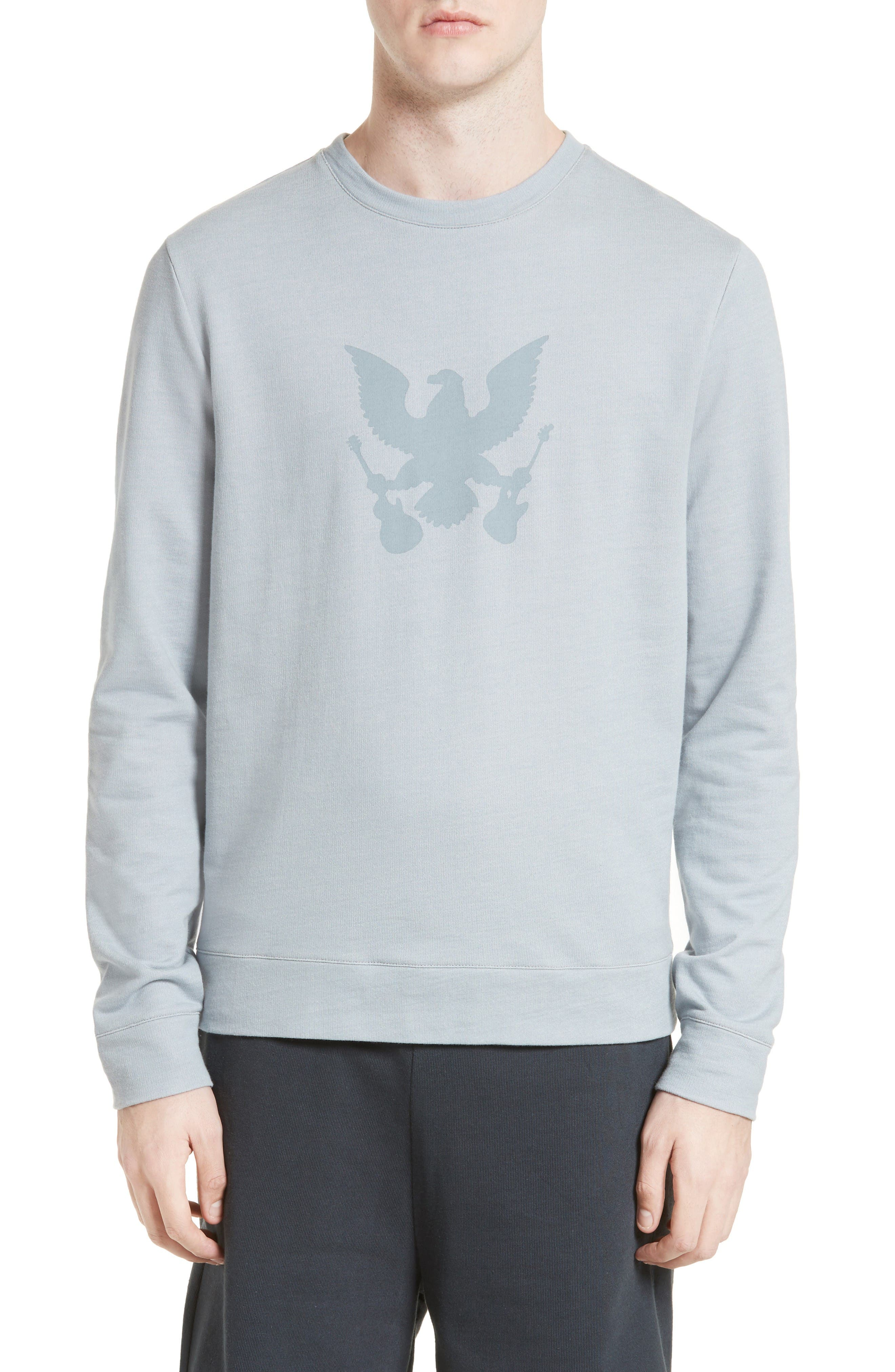 Grand Aigle Bird Sweatshirt,                         Main,                         color, Blue