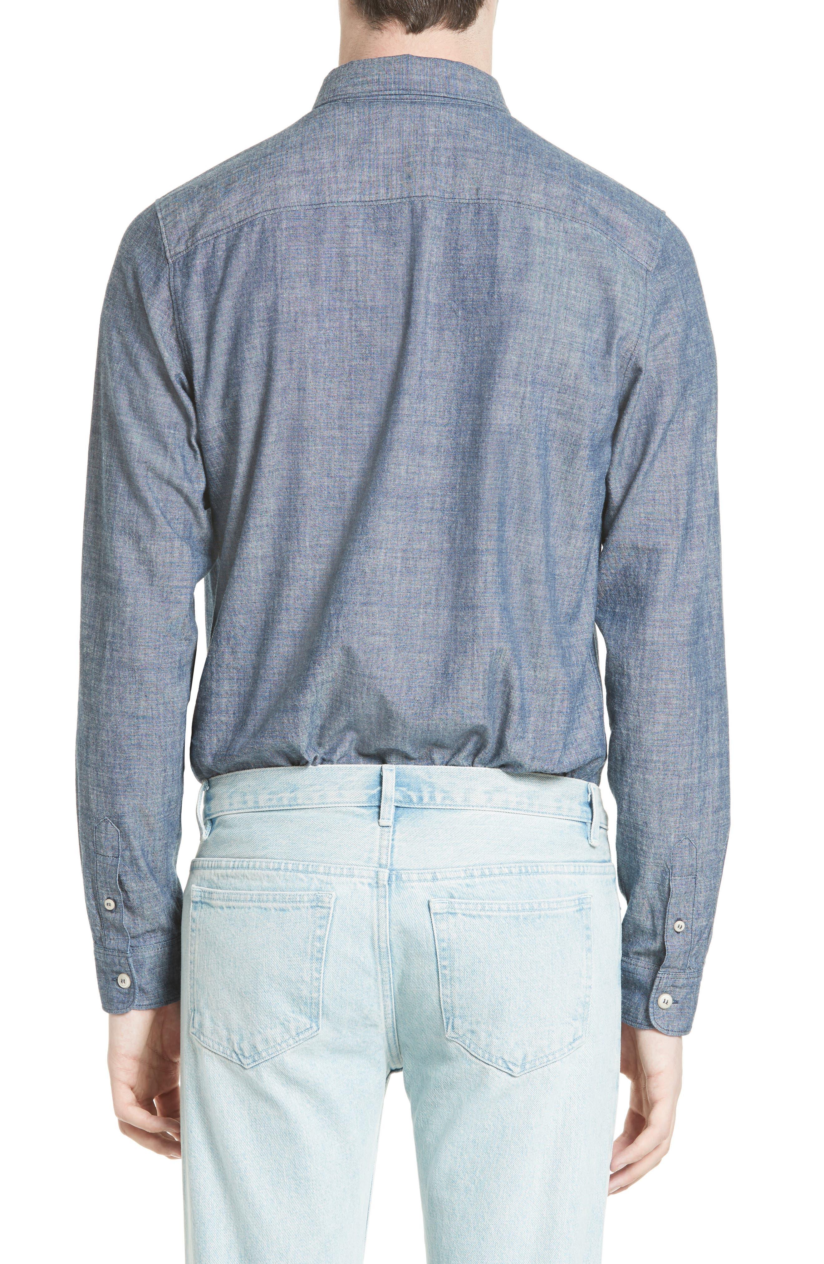 Alternate Image 2  - A.P.C. Hector Denim Shirt