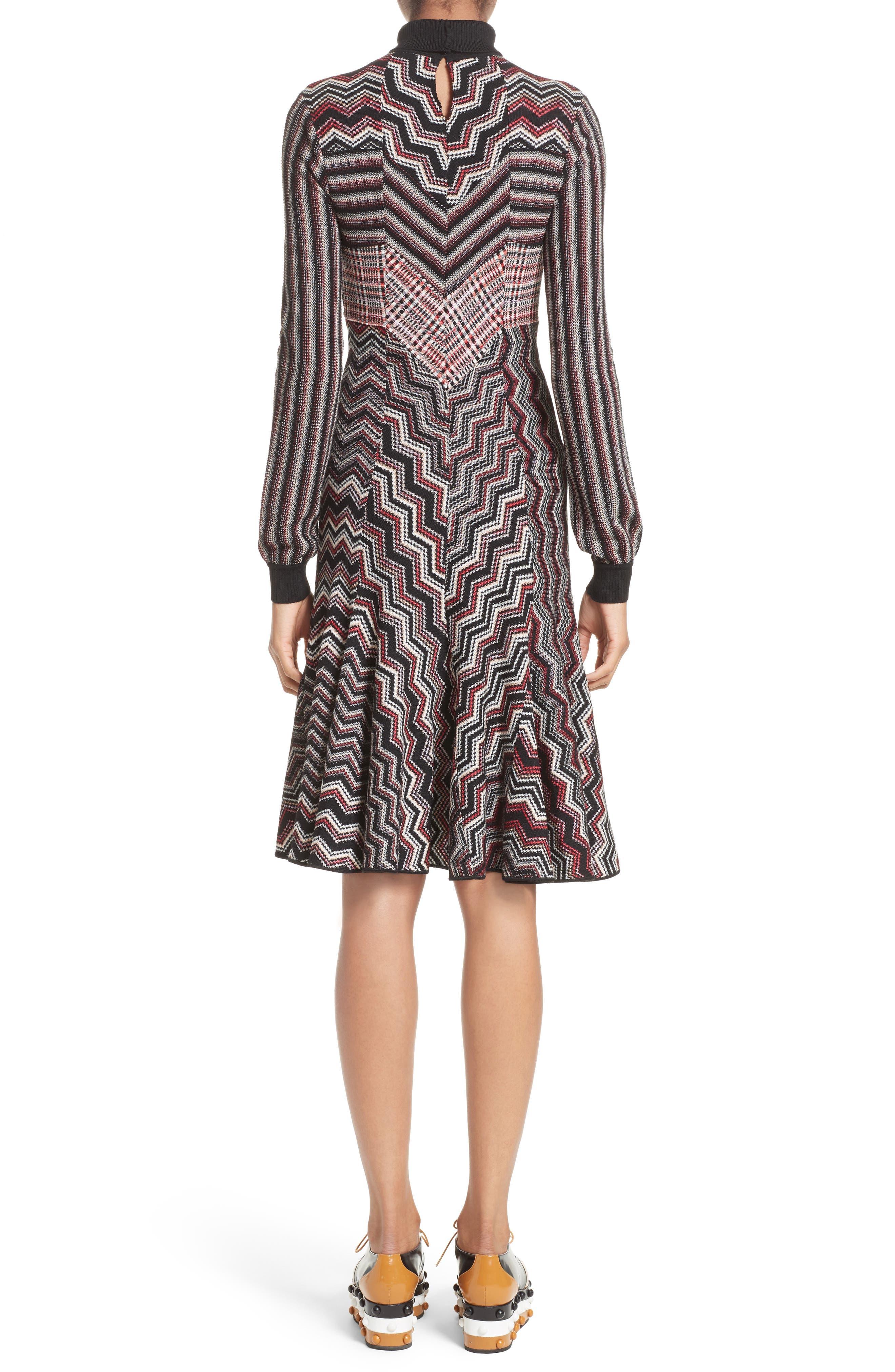 Alternate Image 2  - Missoni Patchwork Wool Blend Knit Dress