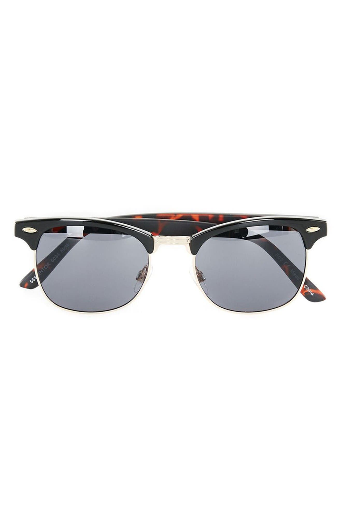 Alternate Image 3  - Topman Clubmaster 50mm Sunglasses