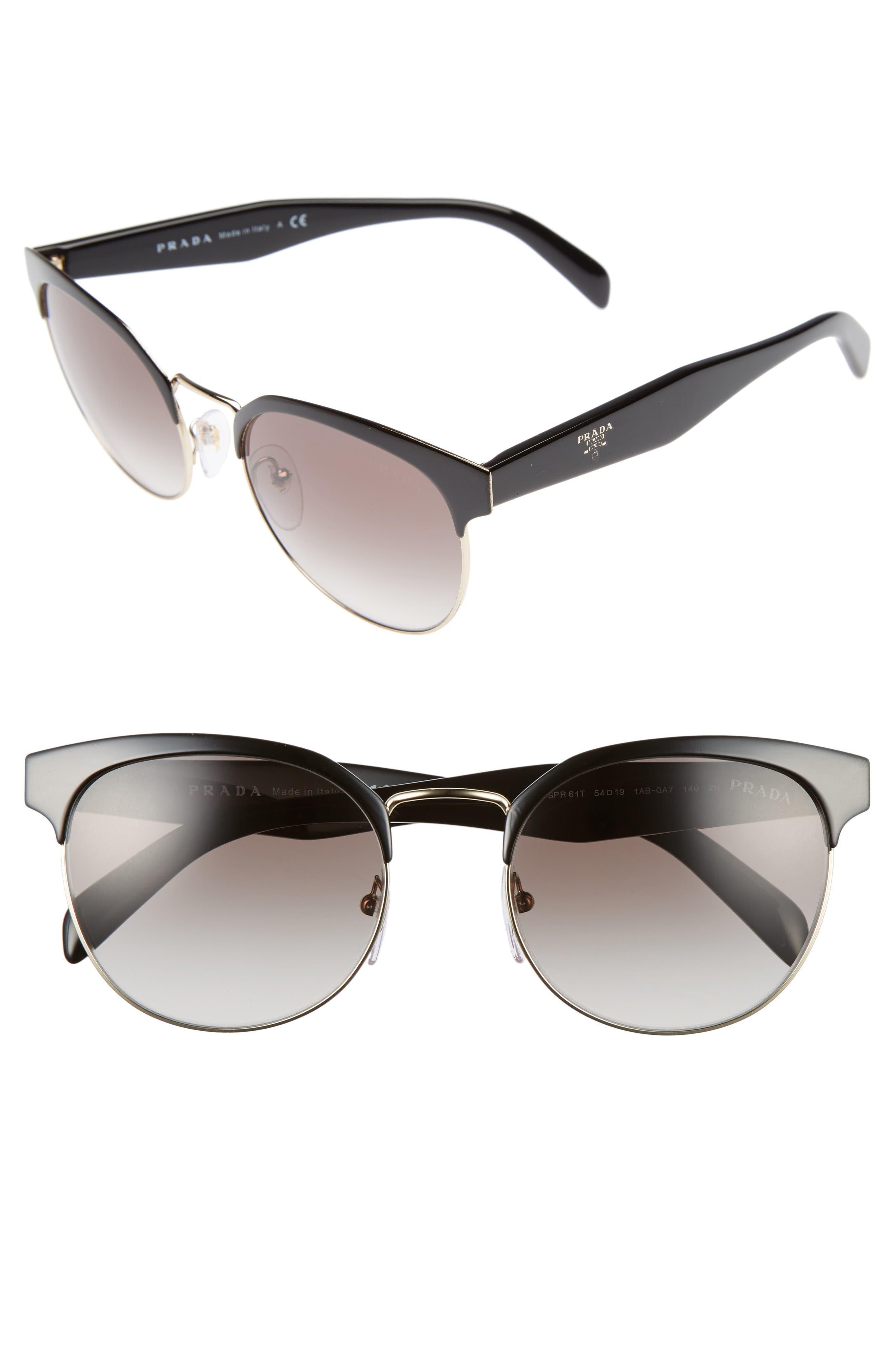 Prada 54mm Gradient Round Sunglasses