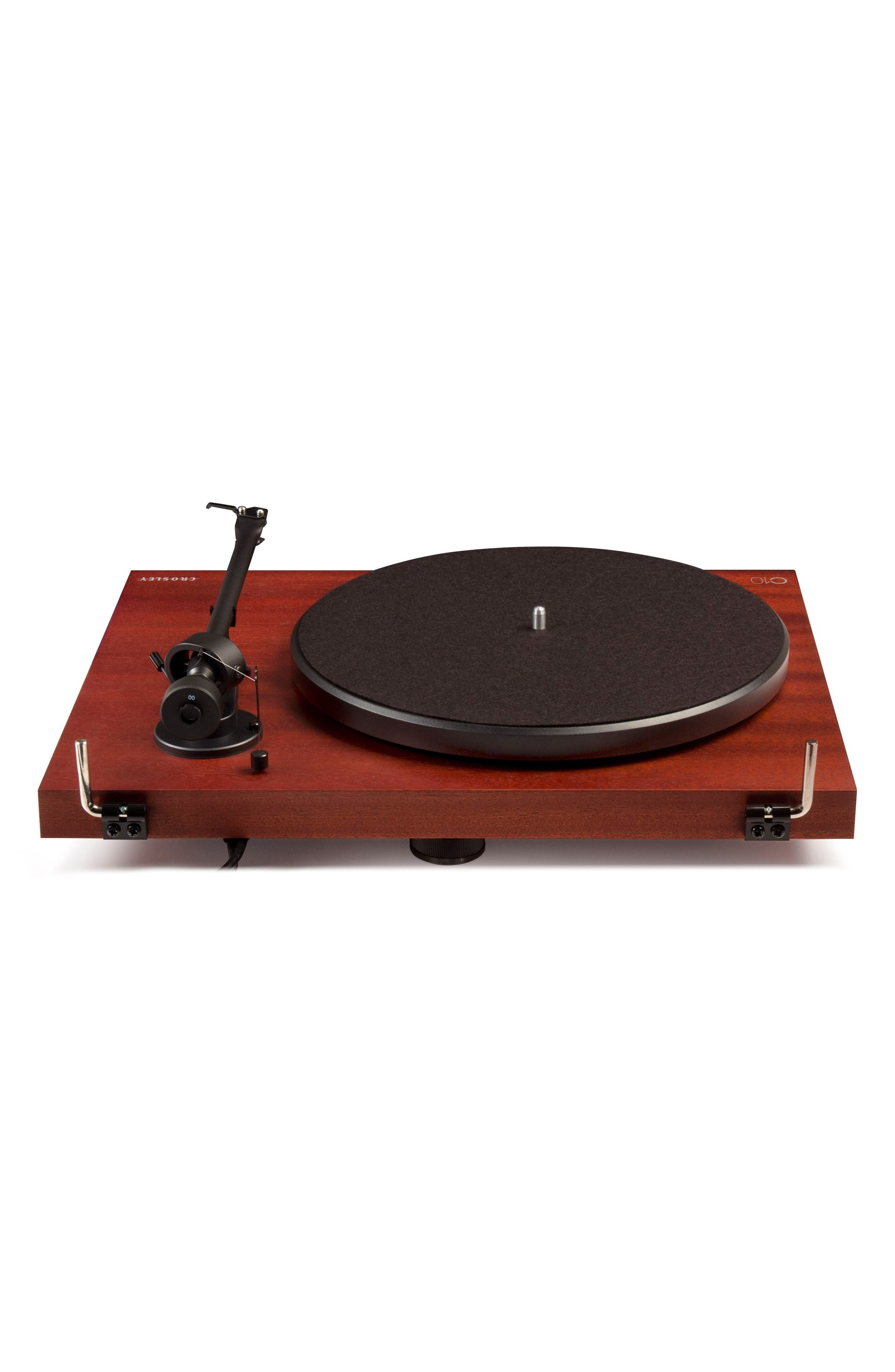 C10 Two-Speed Manual Turntable,                             Alternate thumbnail 5, color,                             Mahogany
