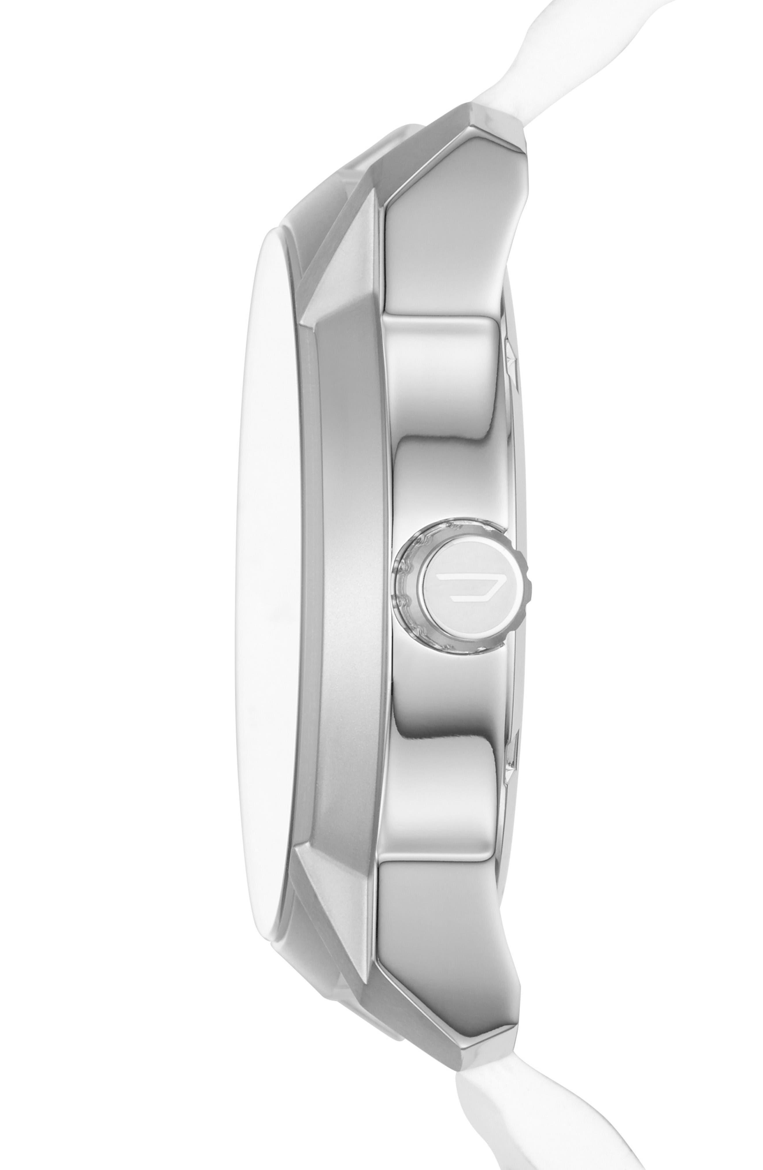Alternate Image 2  - DIESEL® Armbar Leather Strap Watch, 45mm