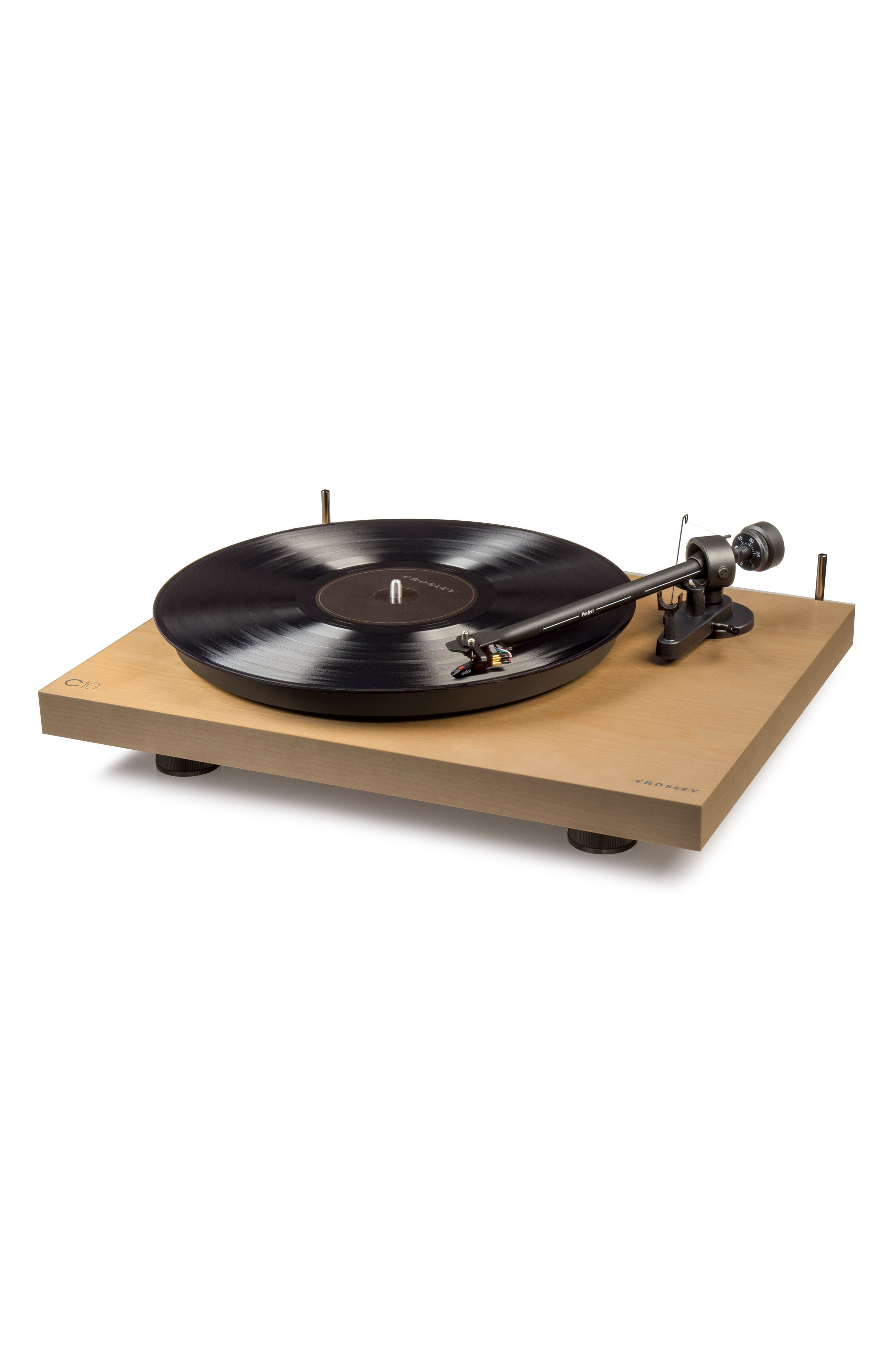 C10 Two-Speed Manual Turntable,                             Alternate thumbnail 3, color,                             Natural