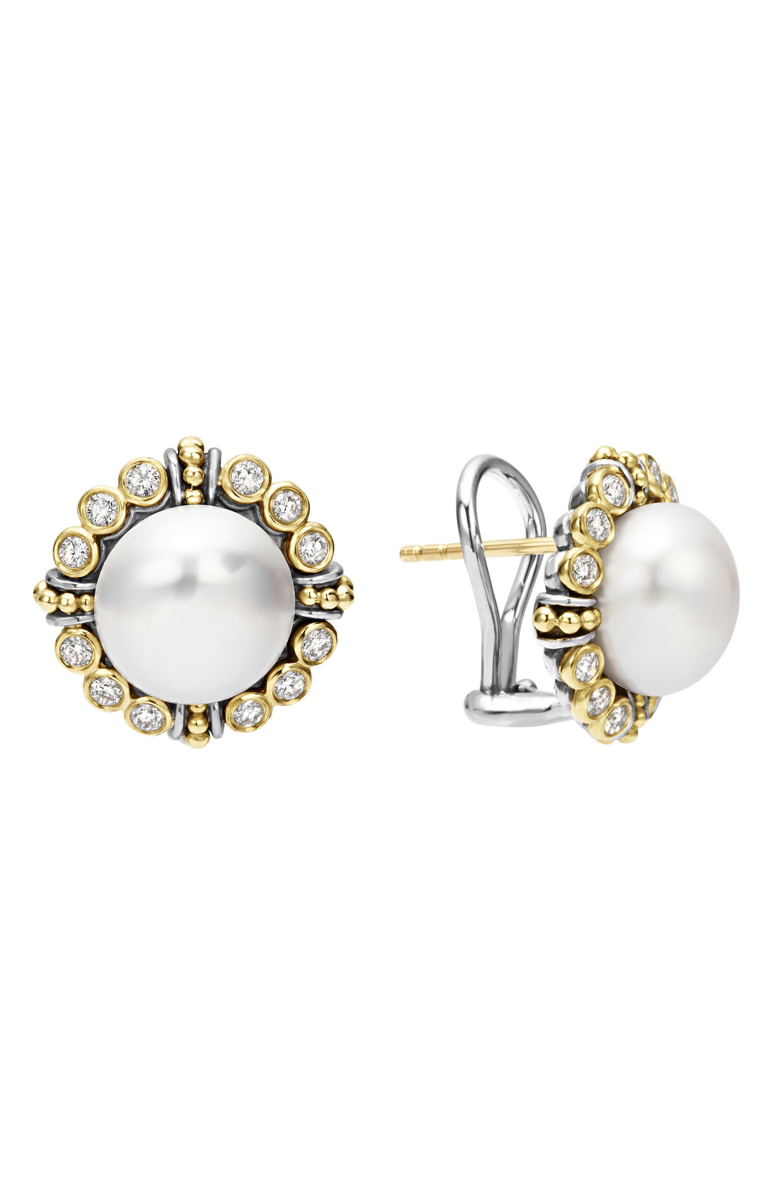 LAGOS Luna Diamond & Pearl Earrings