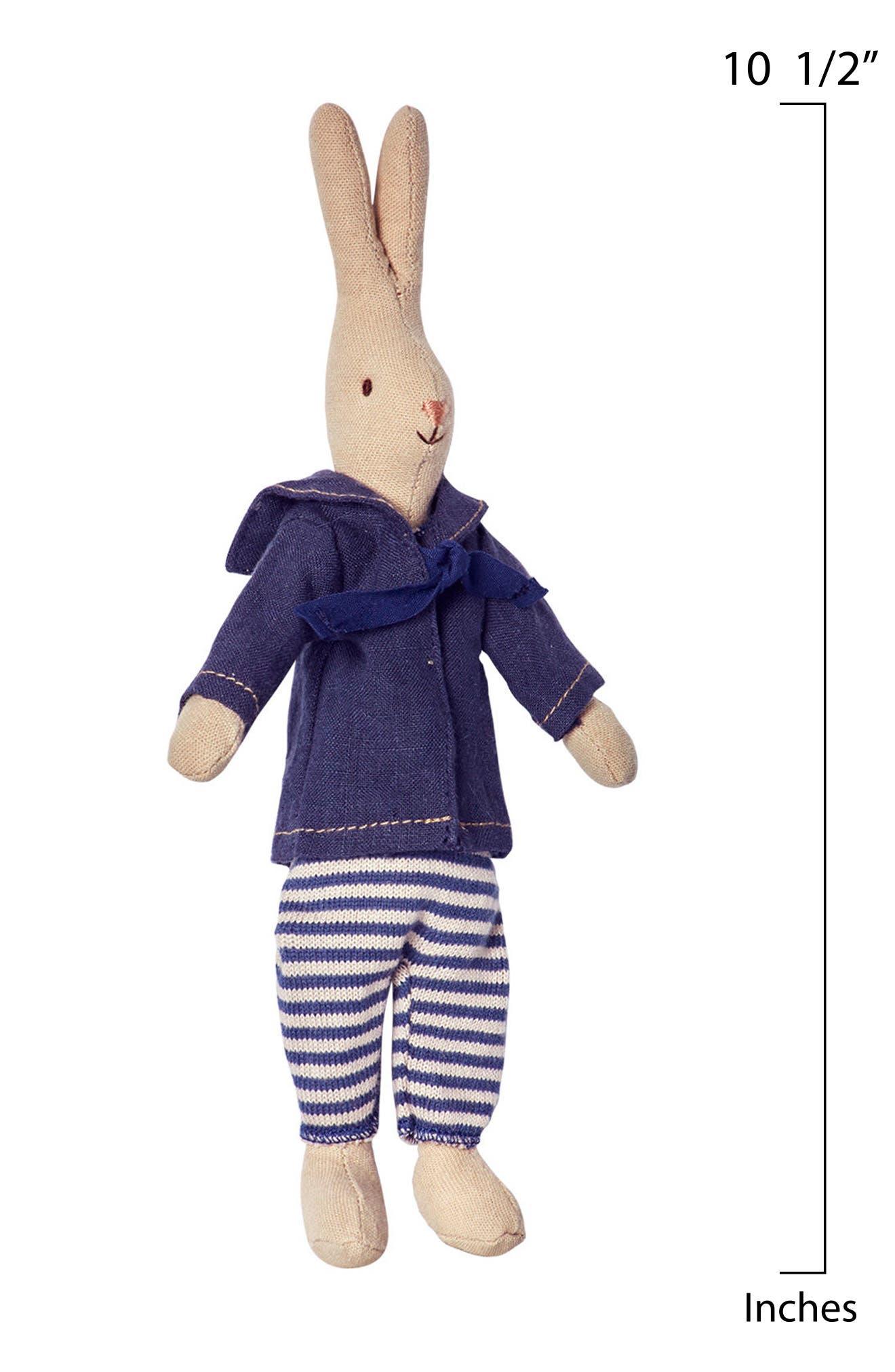 Mini Marcus Rabbit Stuffed Animal,                             Alternate thumbnail 2, color,                             Blue