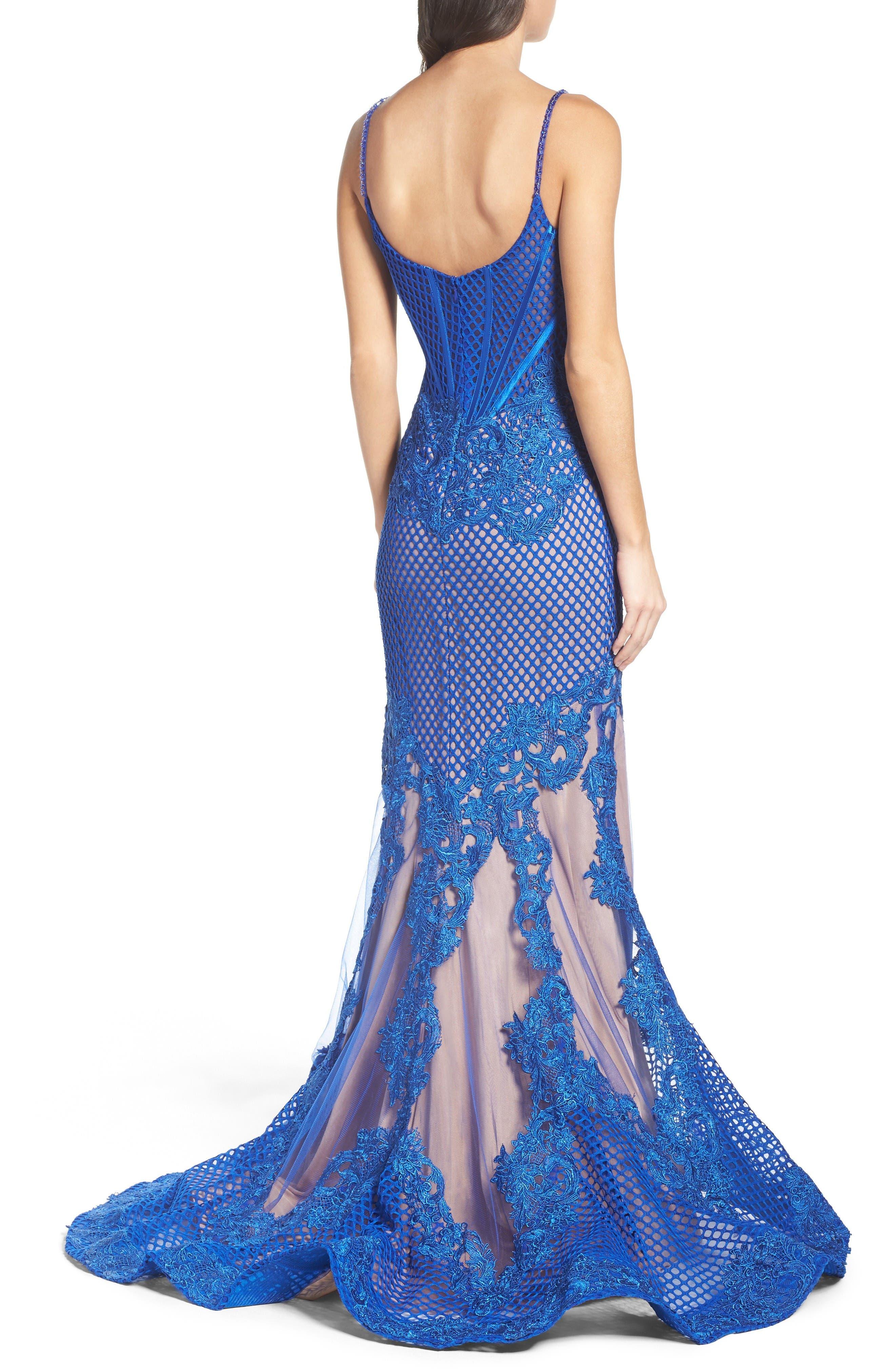 Alternate Image 2  - Mac Duggal Illusion Mermaid Gown