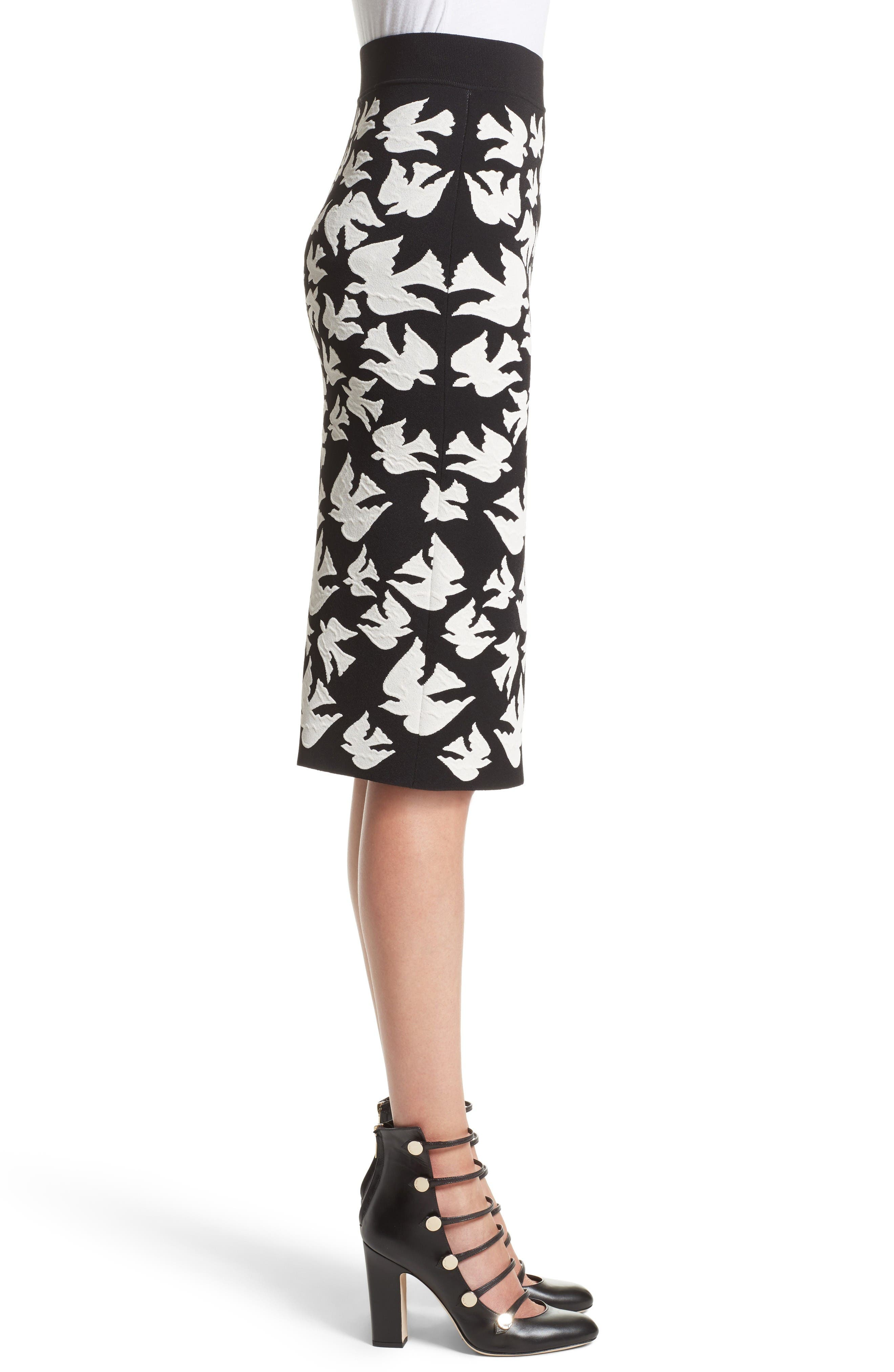 Alternate Image 5  - Alexander McQueen Swallow Jacquard Pencil Skirt