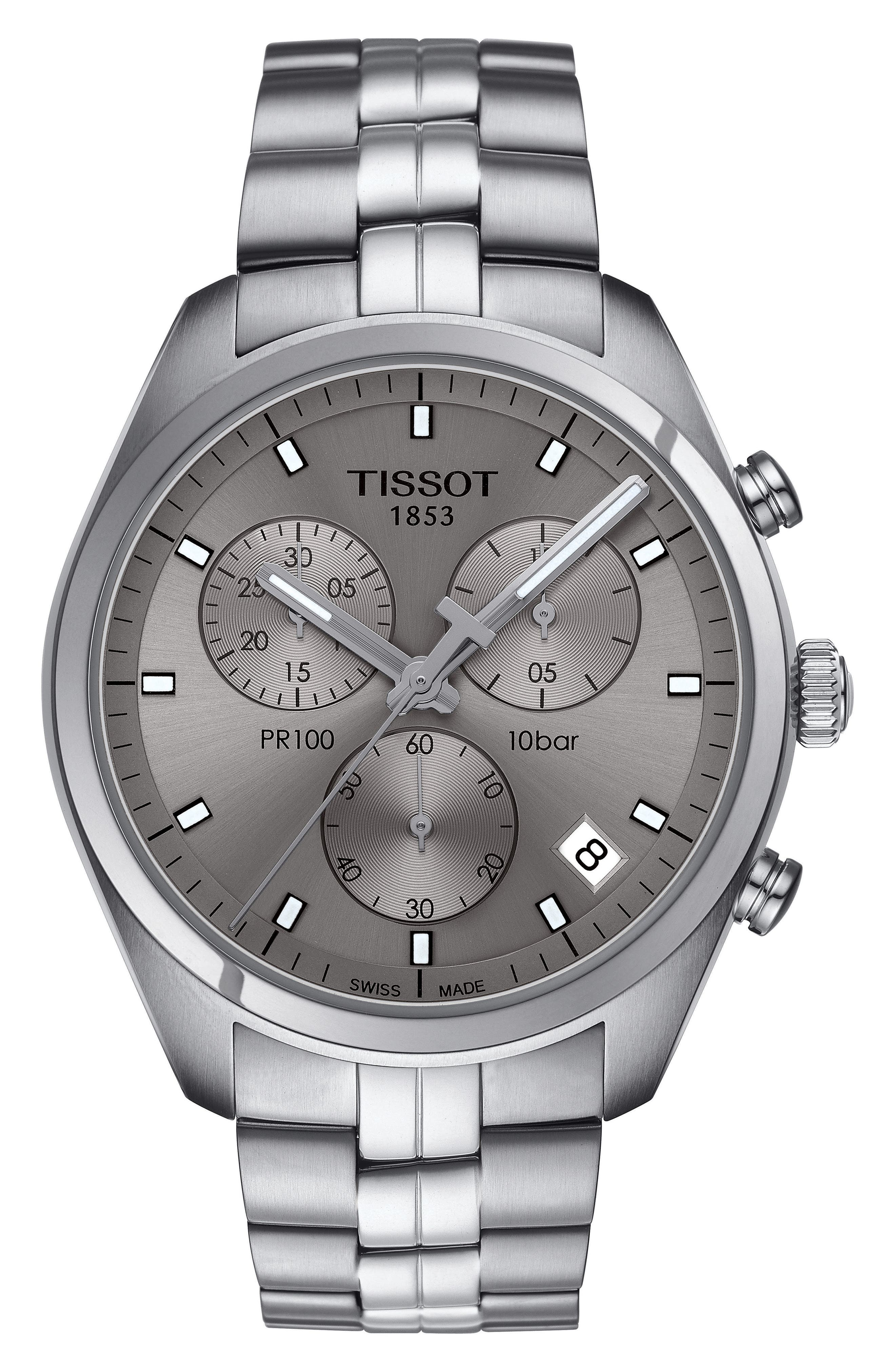 TISSOT PR100 Chronograph Bracelet Watch, 41mm