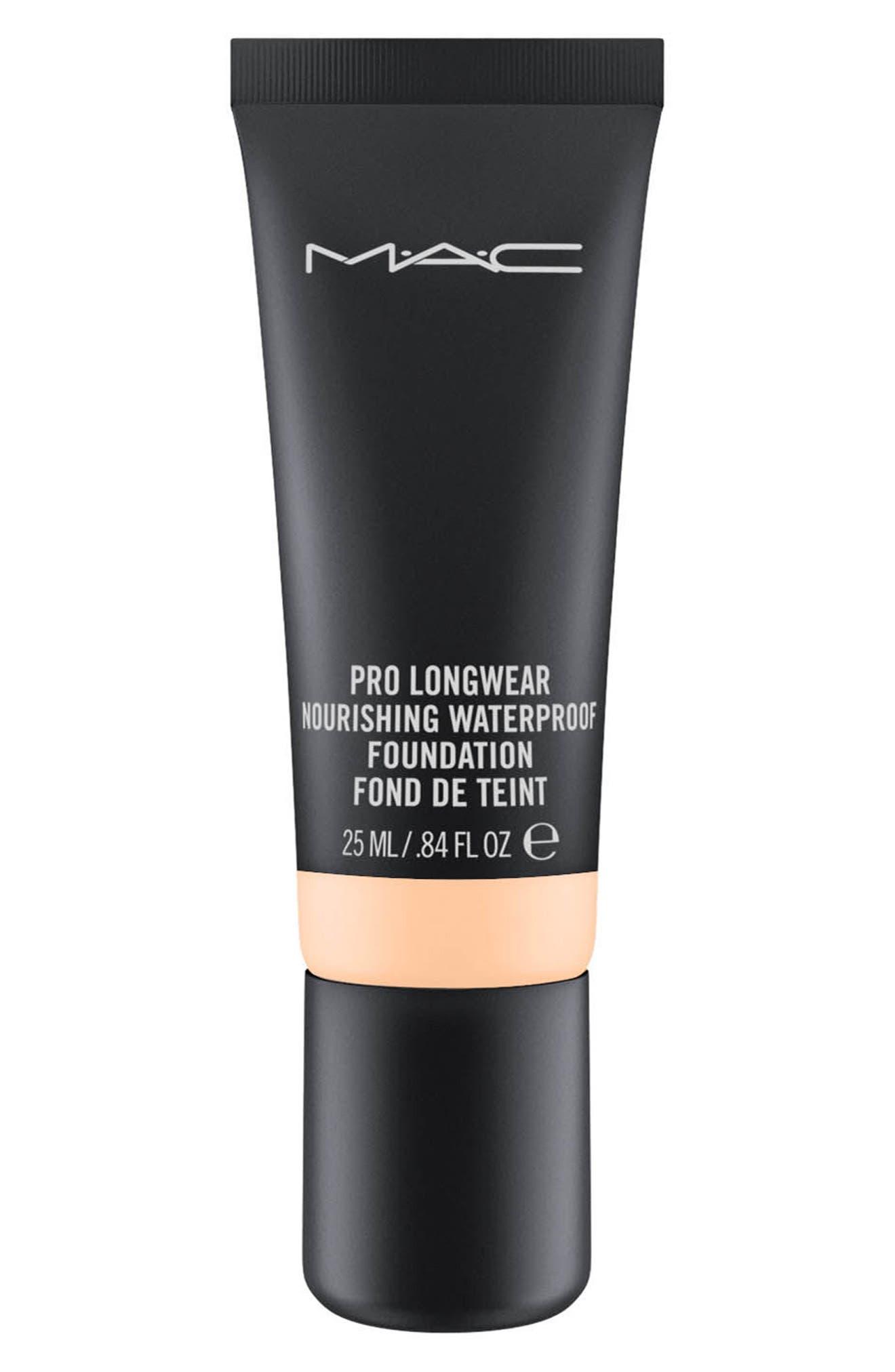 mac pro longwear nourishing waterproof foundation nordstrom