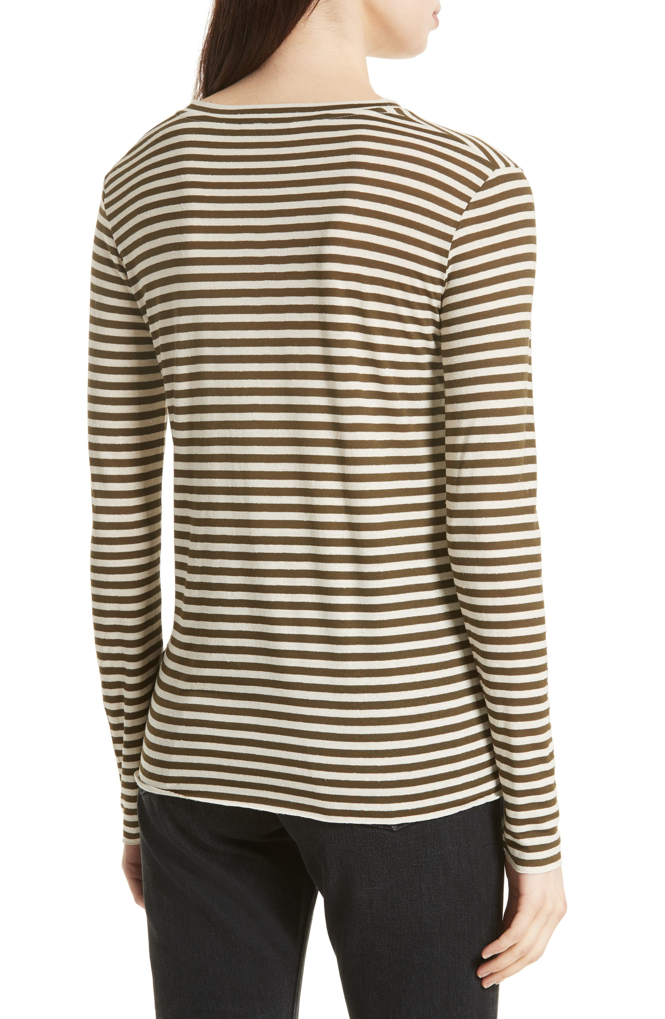 Alternate Image 2  - Vince Midi Stripe Long Sleeve Tee