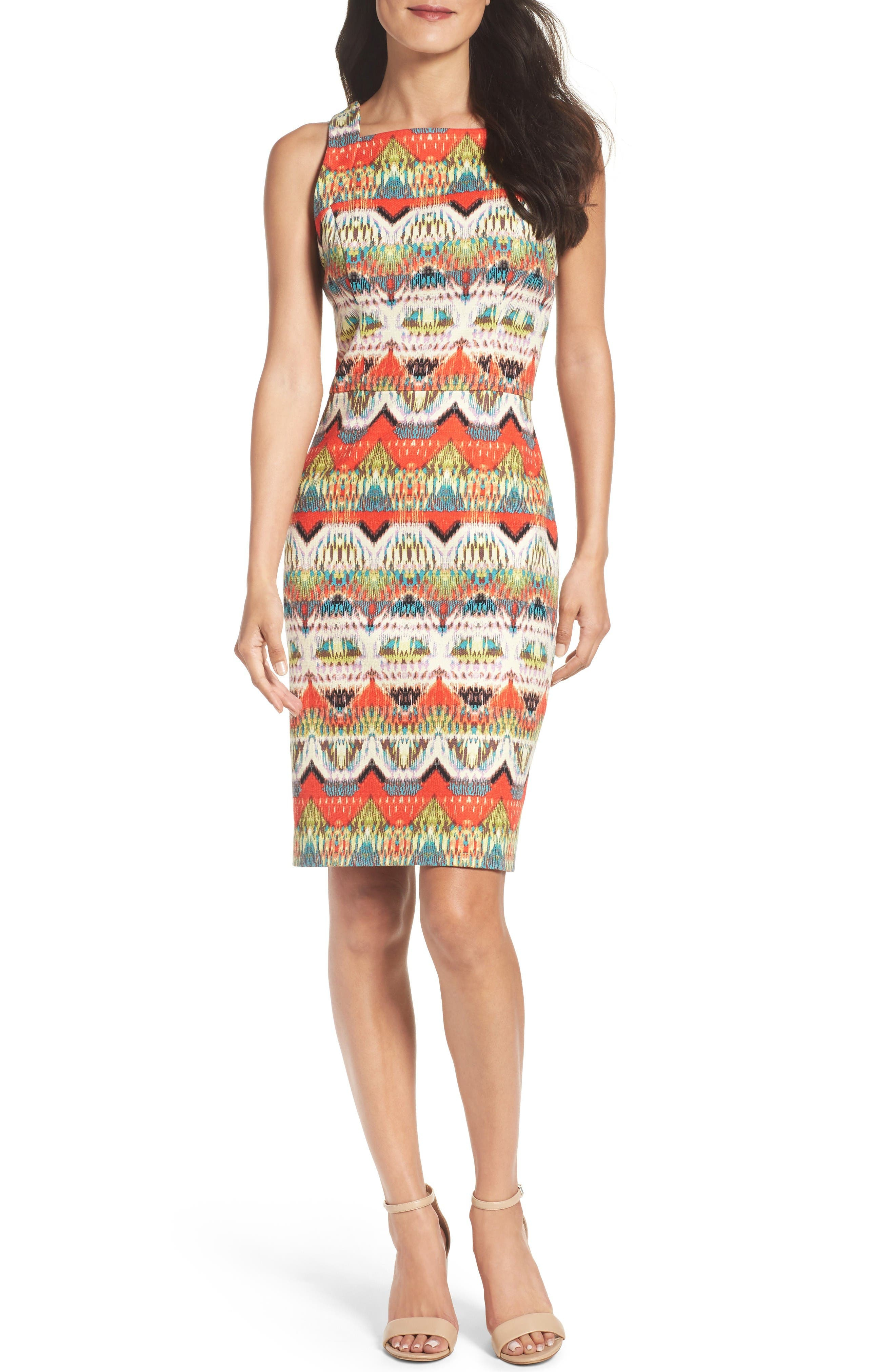 Maggy London Print Sheath Dress (Regular & Petite)
