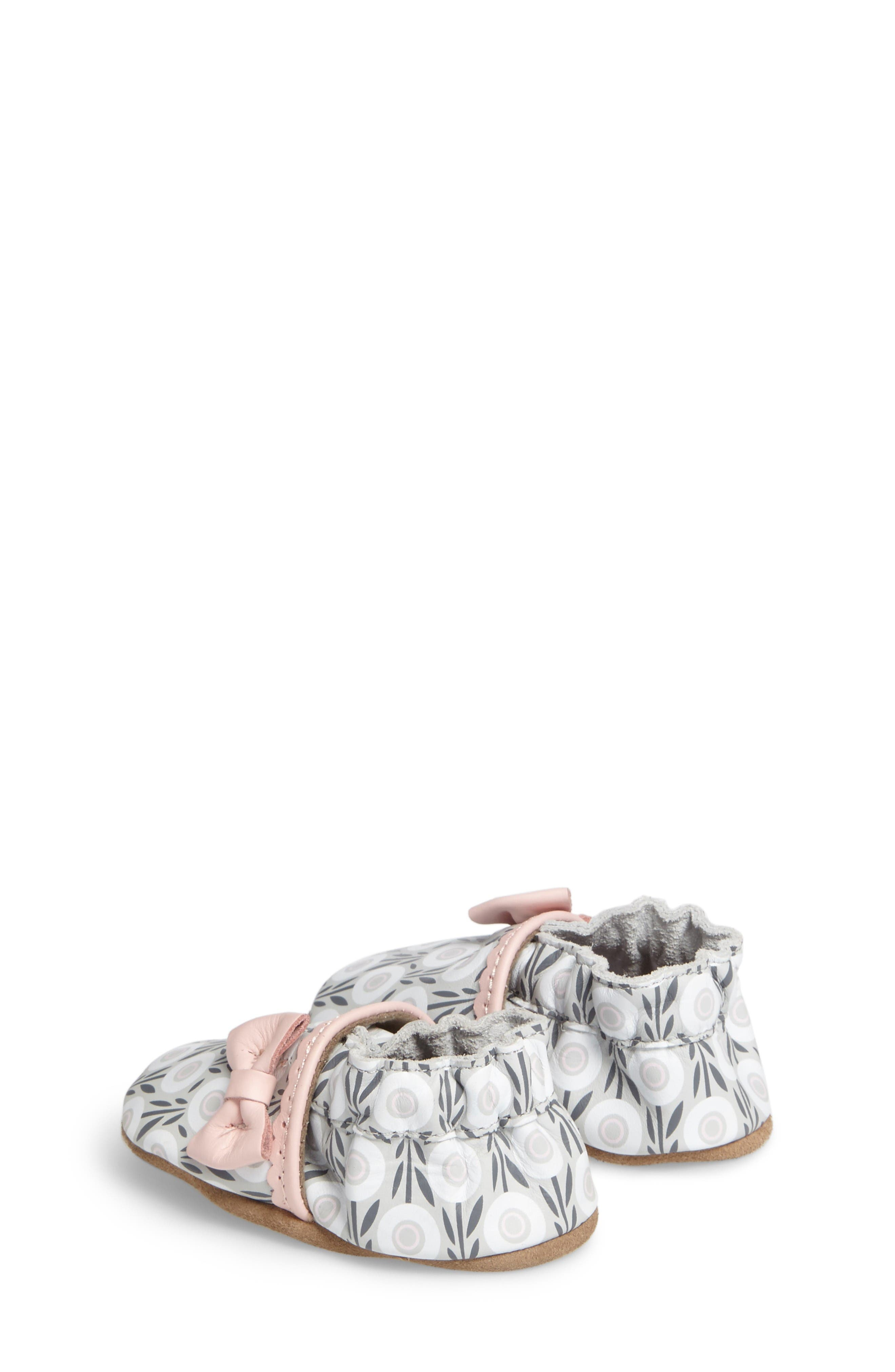 Alternate Image 2  - Robeez® Wildflowers Crib Shoe (Baby & Walker)
