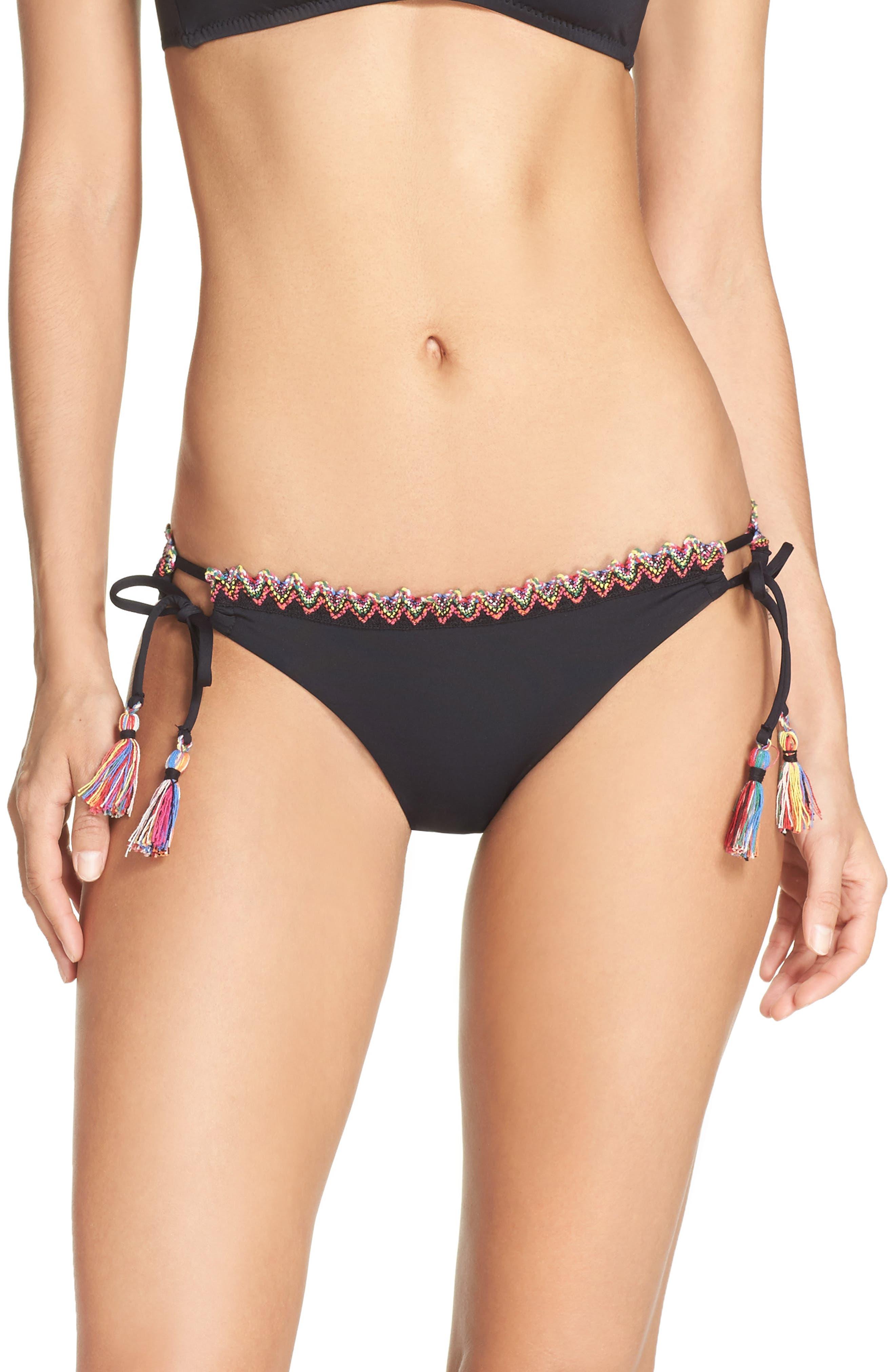 Main Image - Becca Side Tie Bikini Bottoms