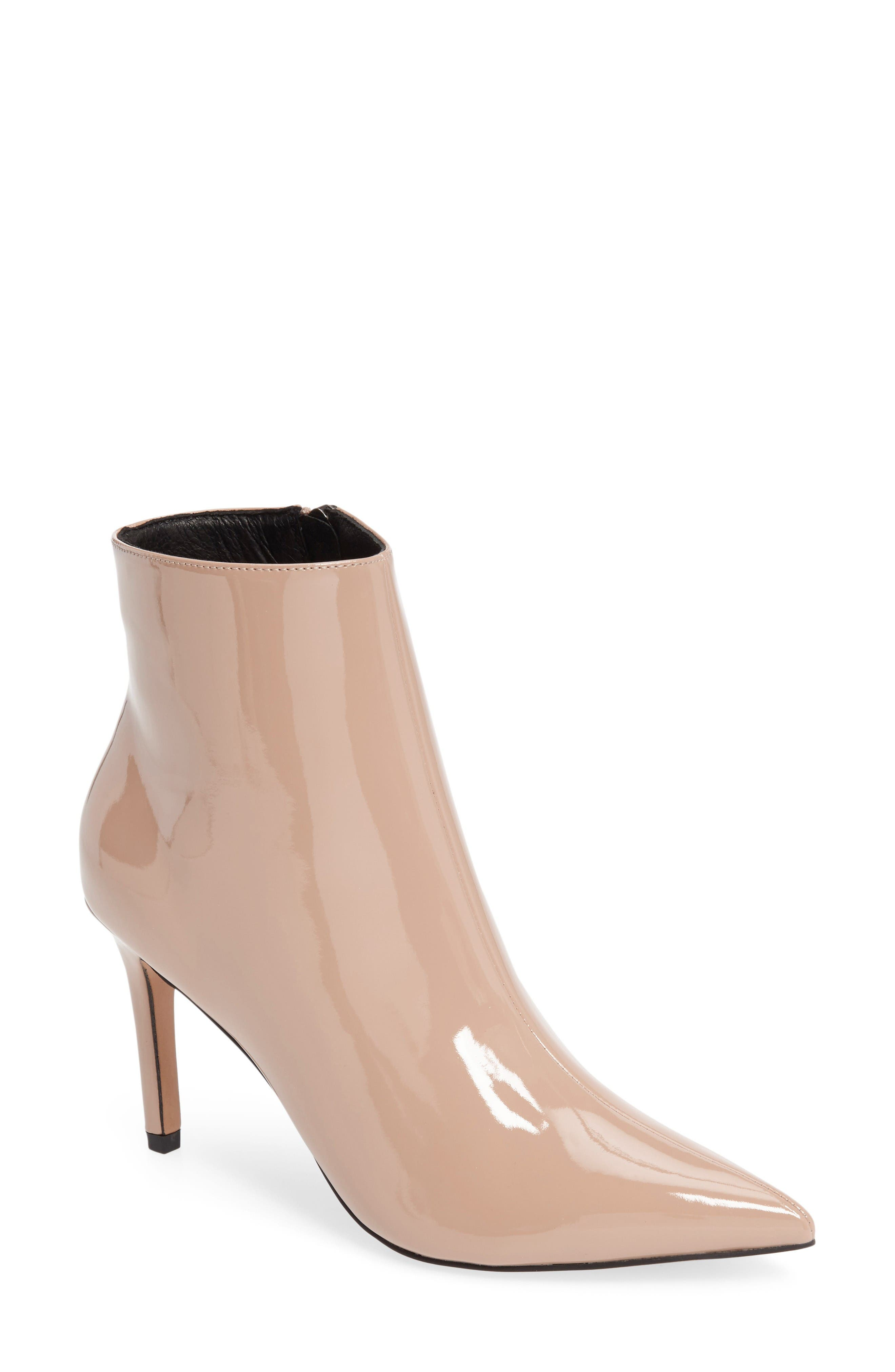 Mimosa Pointy Toe Bootie,                         Main,                         color, Nude