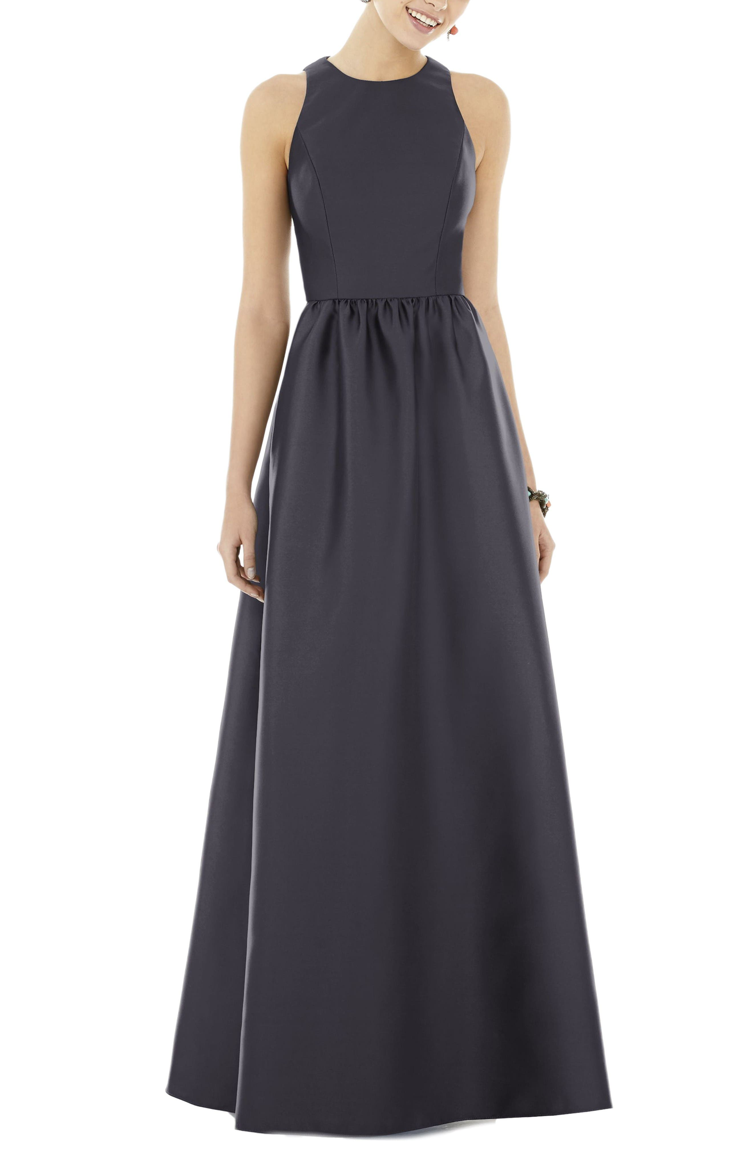 Alfred Sung Sateen Gown