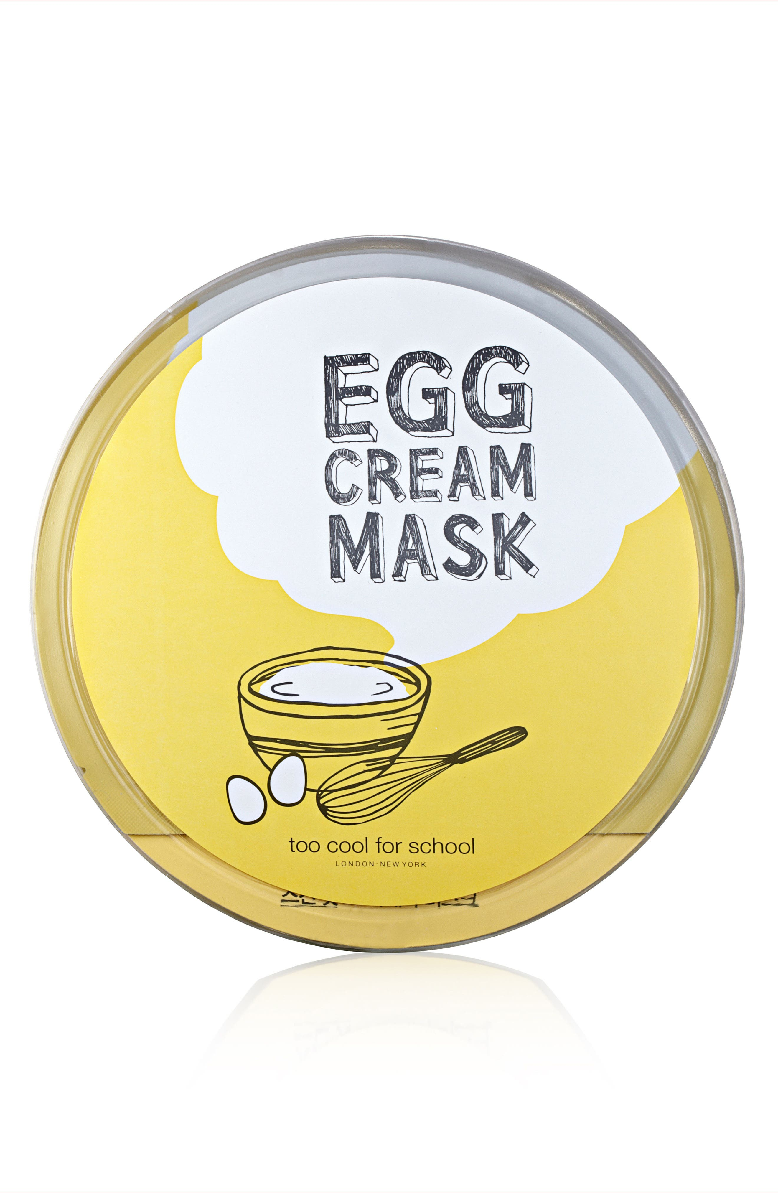 Too Cool for School Egg Cream Microfiber Sheet Mask