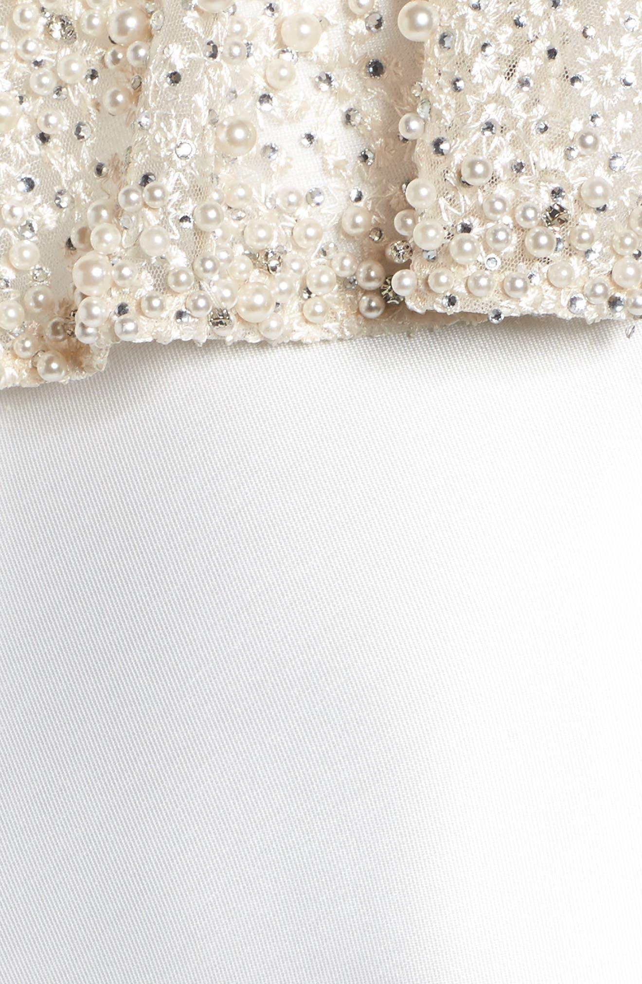 Alternate Image 5  - Mac Duggal Embellished Trumpet Gown & Shawl