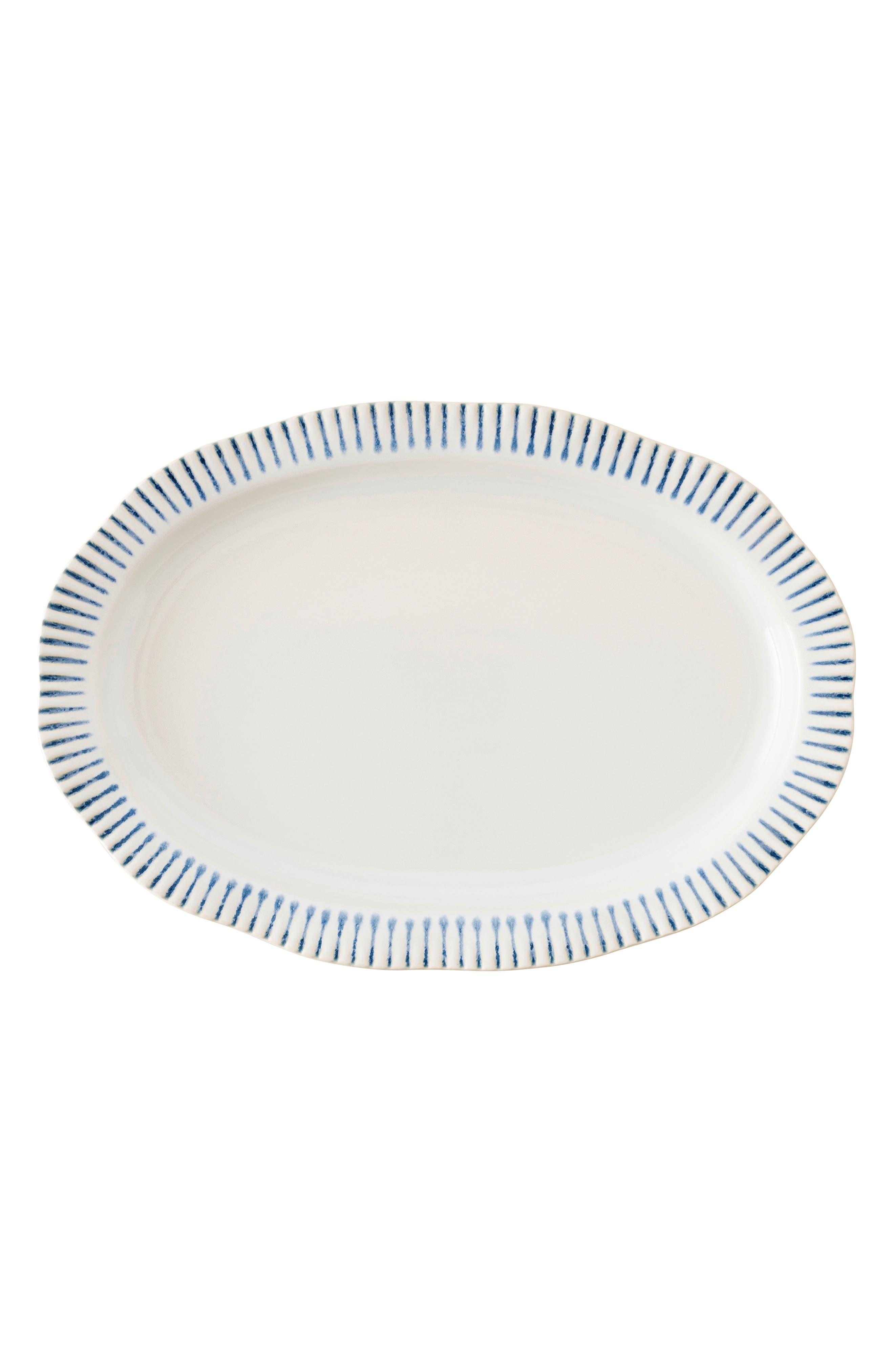 Juliska Wanderlust Collection - Sitio Stripe Stoneware Platter