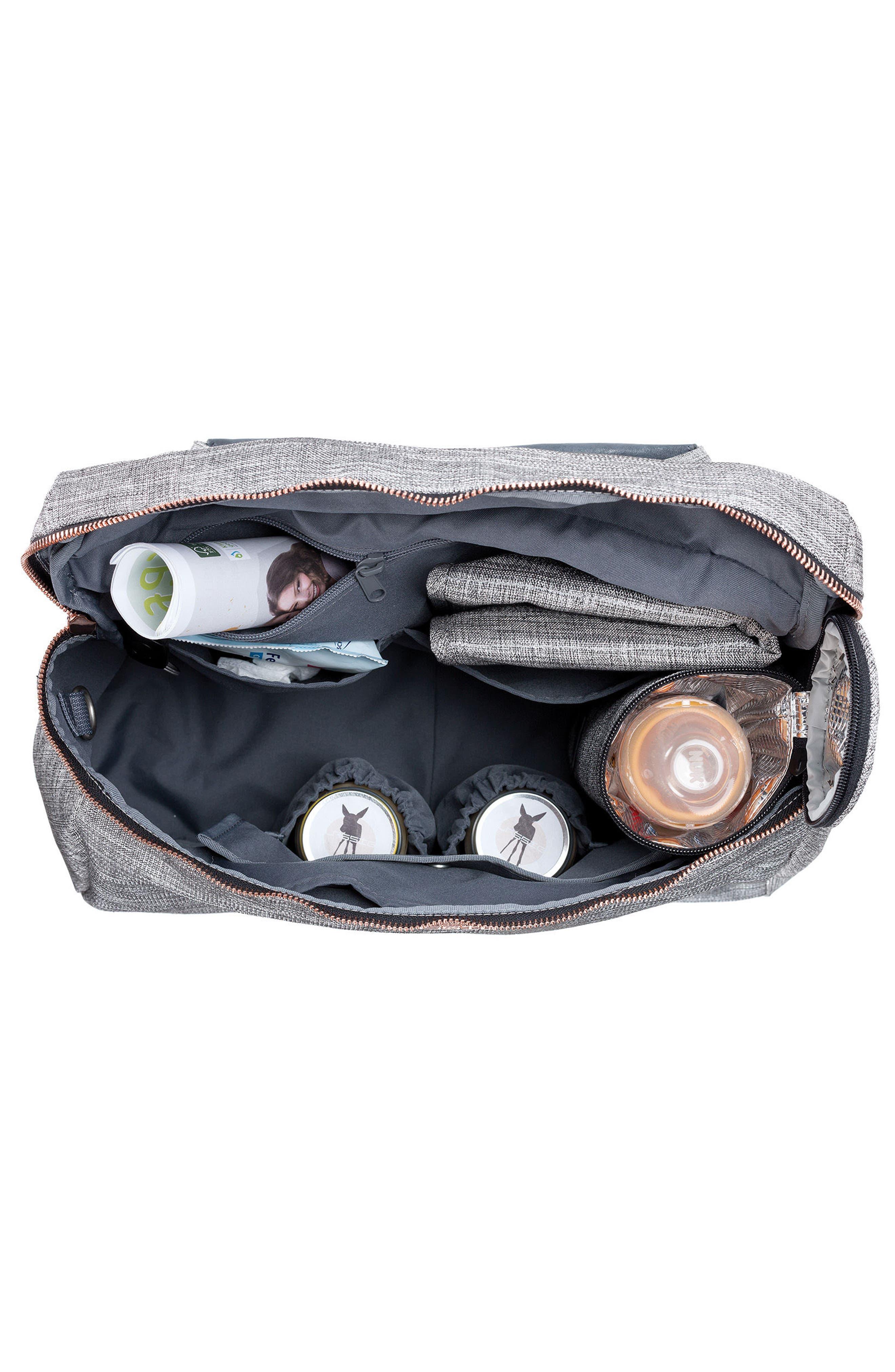 Glam Rosie Diaper Bag,                             Alternate thumbnail 3, color,                             Anthracite Glitter
