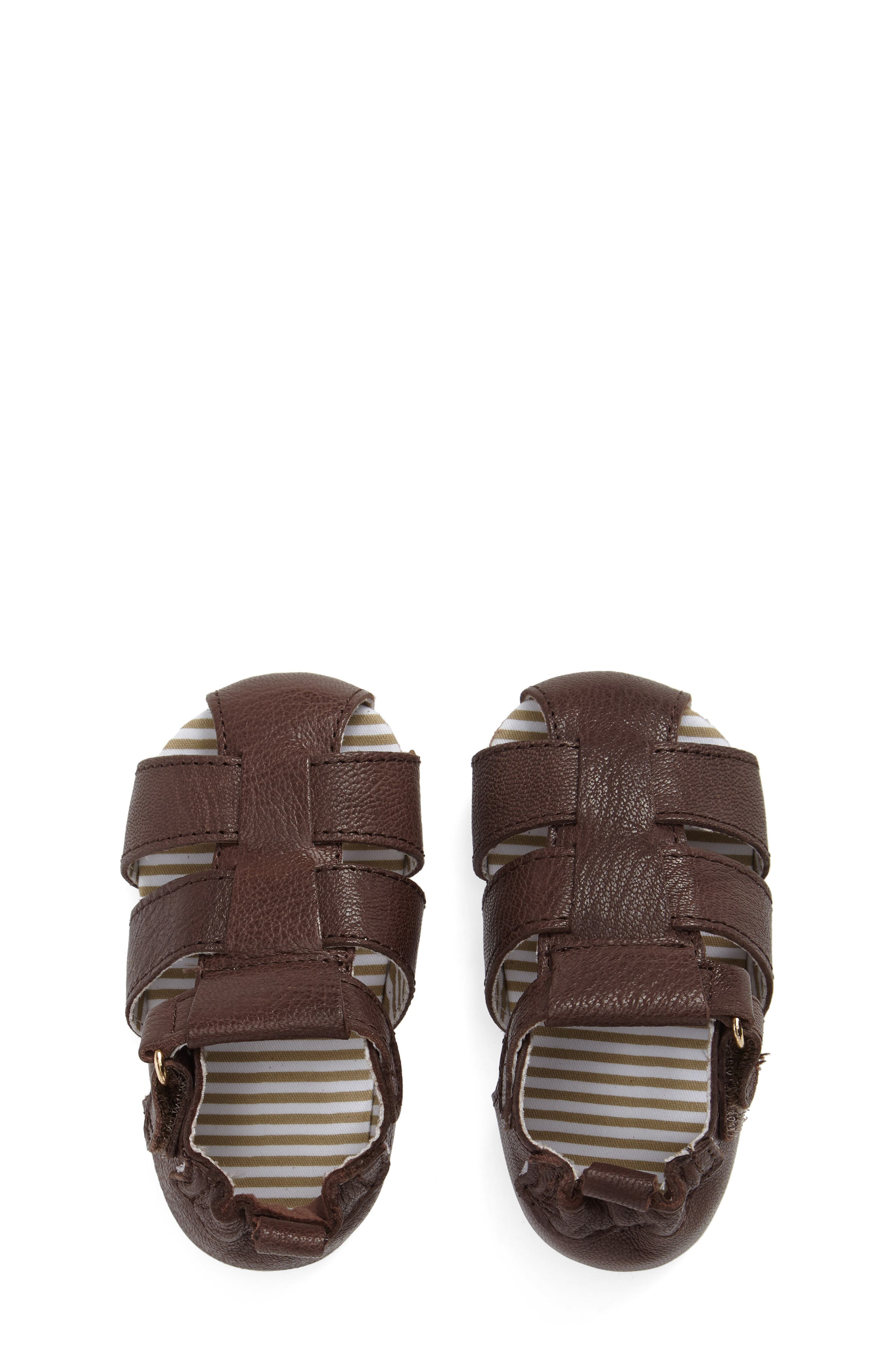Alternate Image 5  - Robeez® Samuel Fisherman Sandal (Baby & Walker)