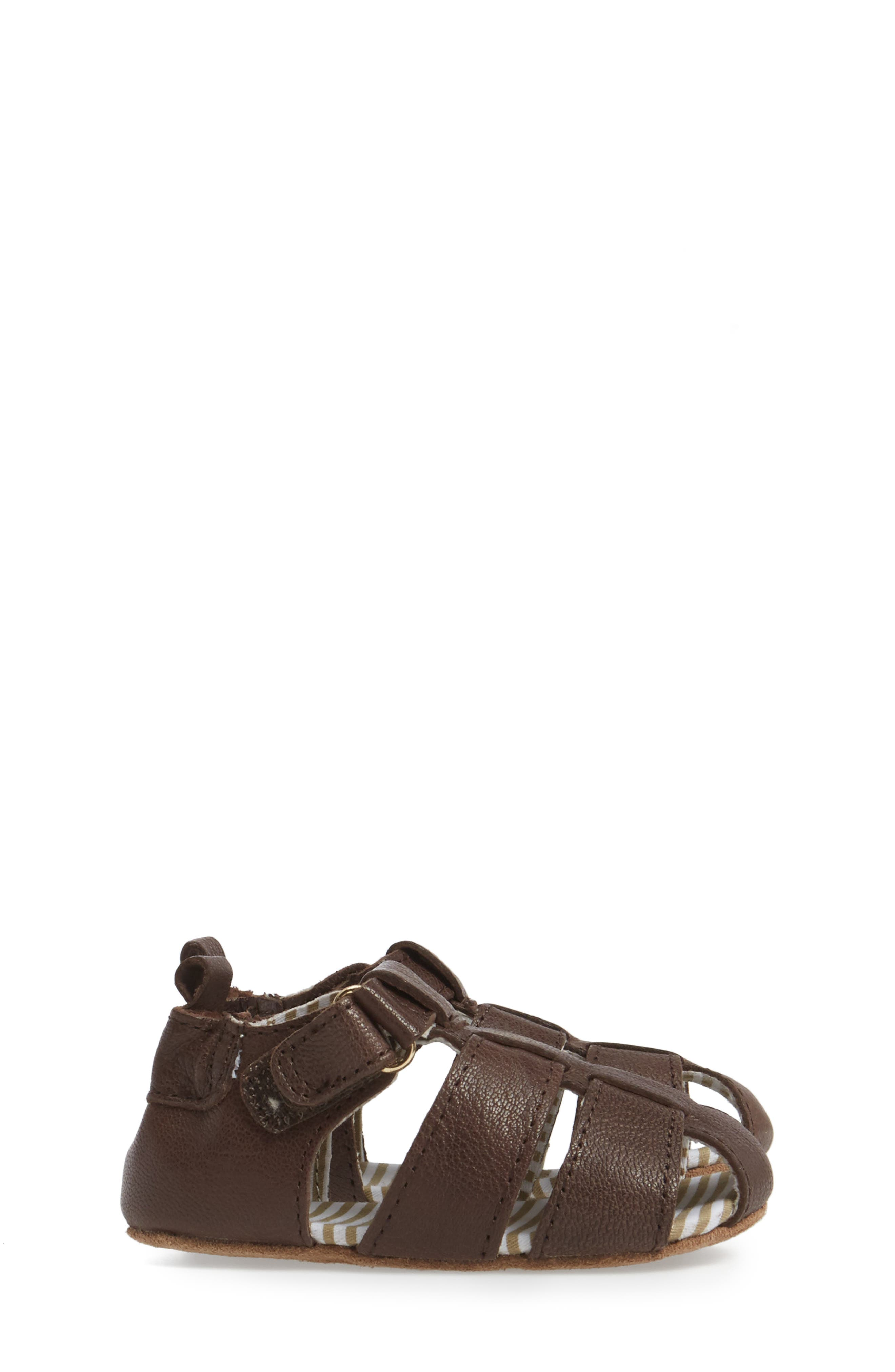 Alternate Image 3  - Robeez® Samuel Fisherman Sandal (Baby & Walker)