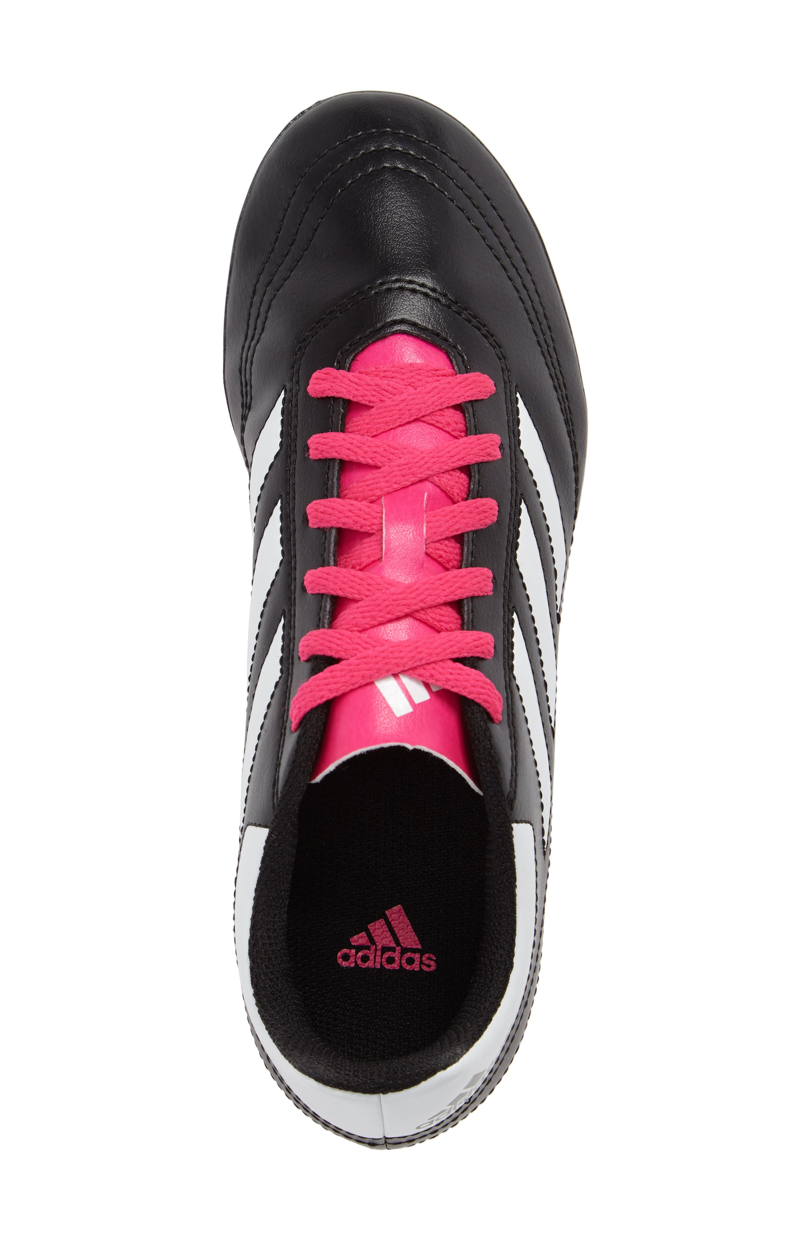 Goletto VI Soccer Shoe,                             Alternate thumbnail 5, color,                             Core Black/ White/ Shock Pink
