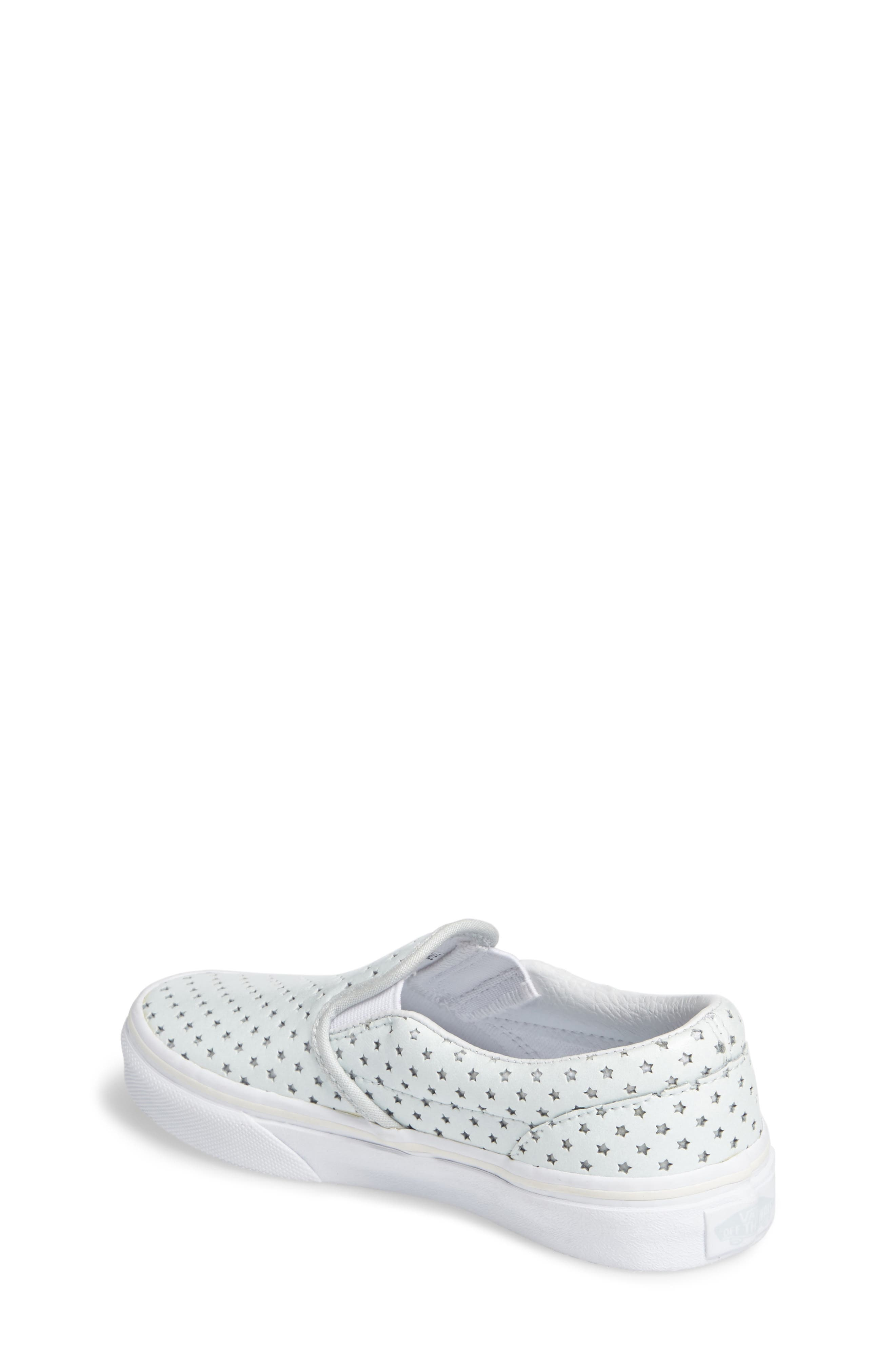 Classic Perforated Slip-On Sneaker,                             Alternate thumbnail 2, color,                             Stars Pearlized Leather