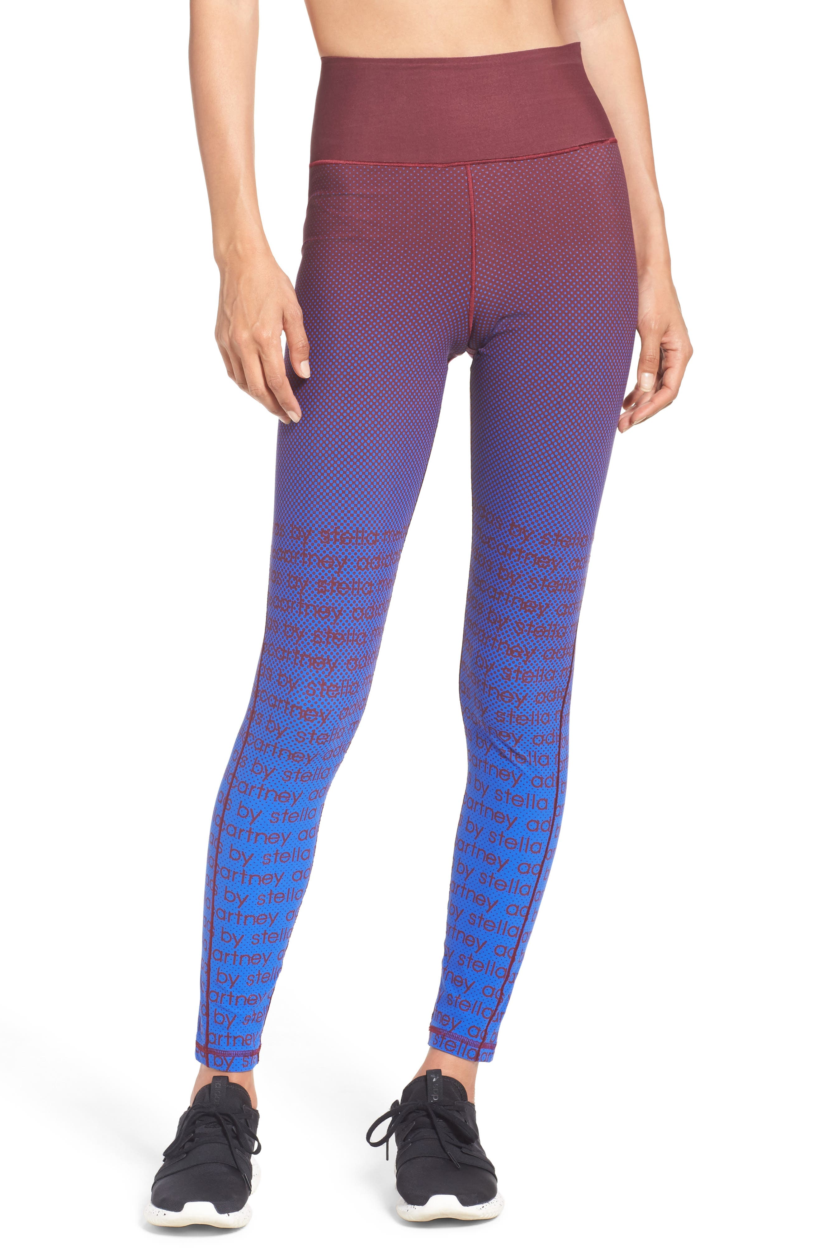 Training Tights,                         Main,                         color, Cherry Wood/ Bold Blue