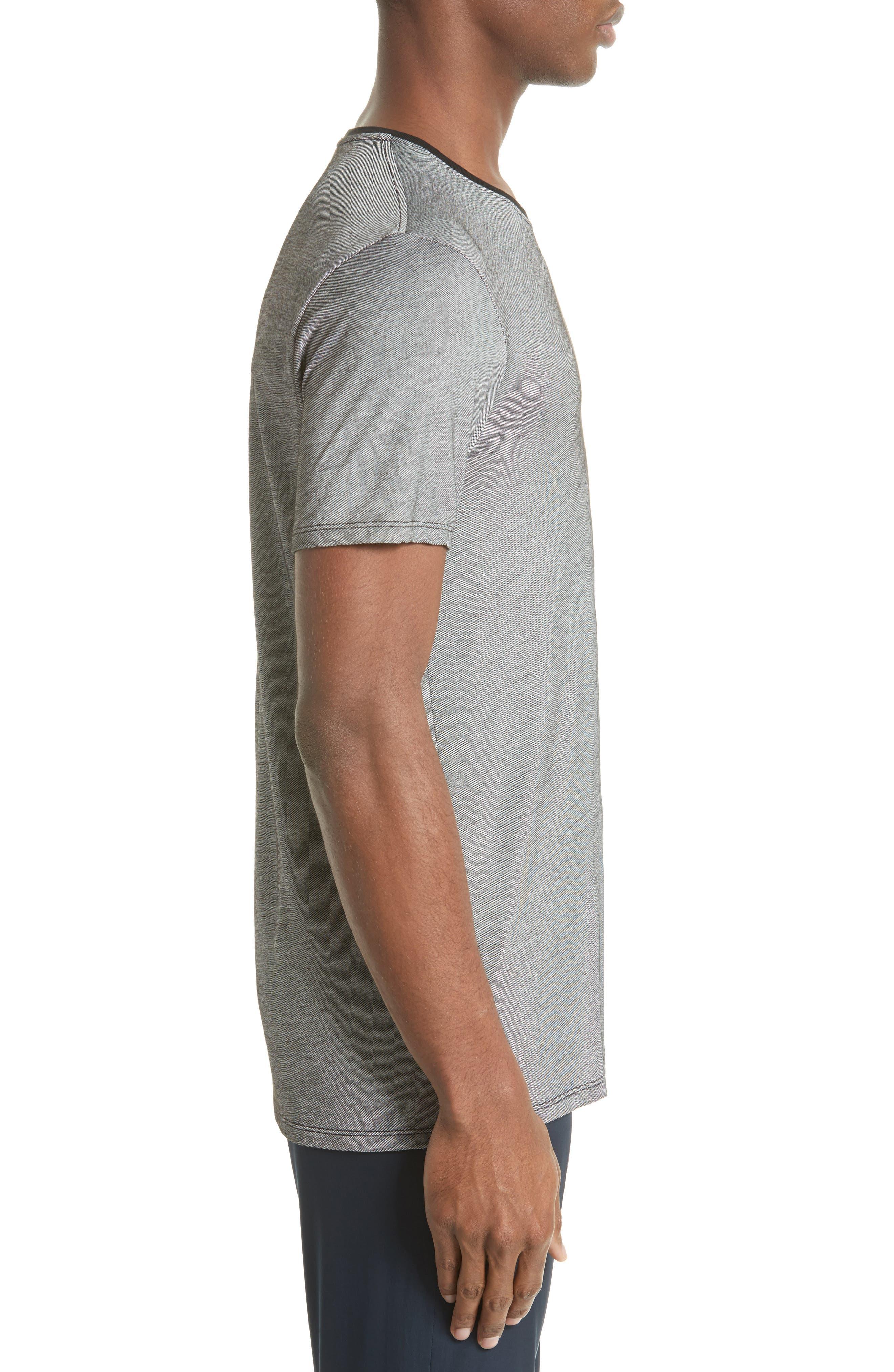 Contrast Crewneck T-Shirt,                             Alternate thumbnail 3, color,                             Grey