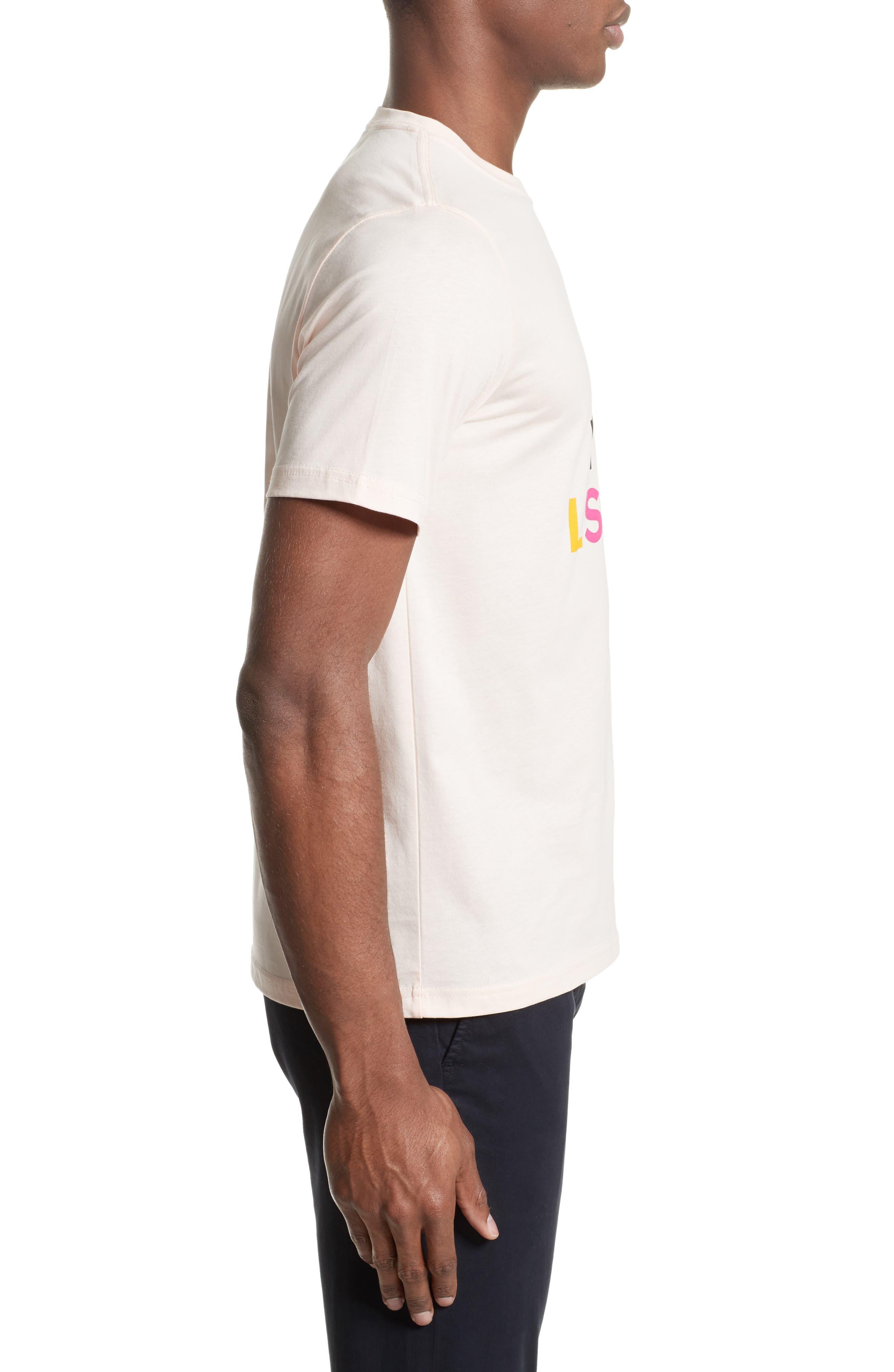 Logo Print T-Shirt,                             Alternate thumbnail 3, color,                             Pink