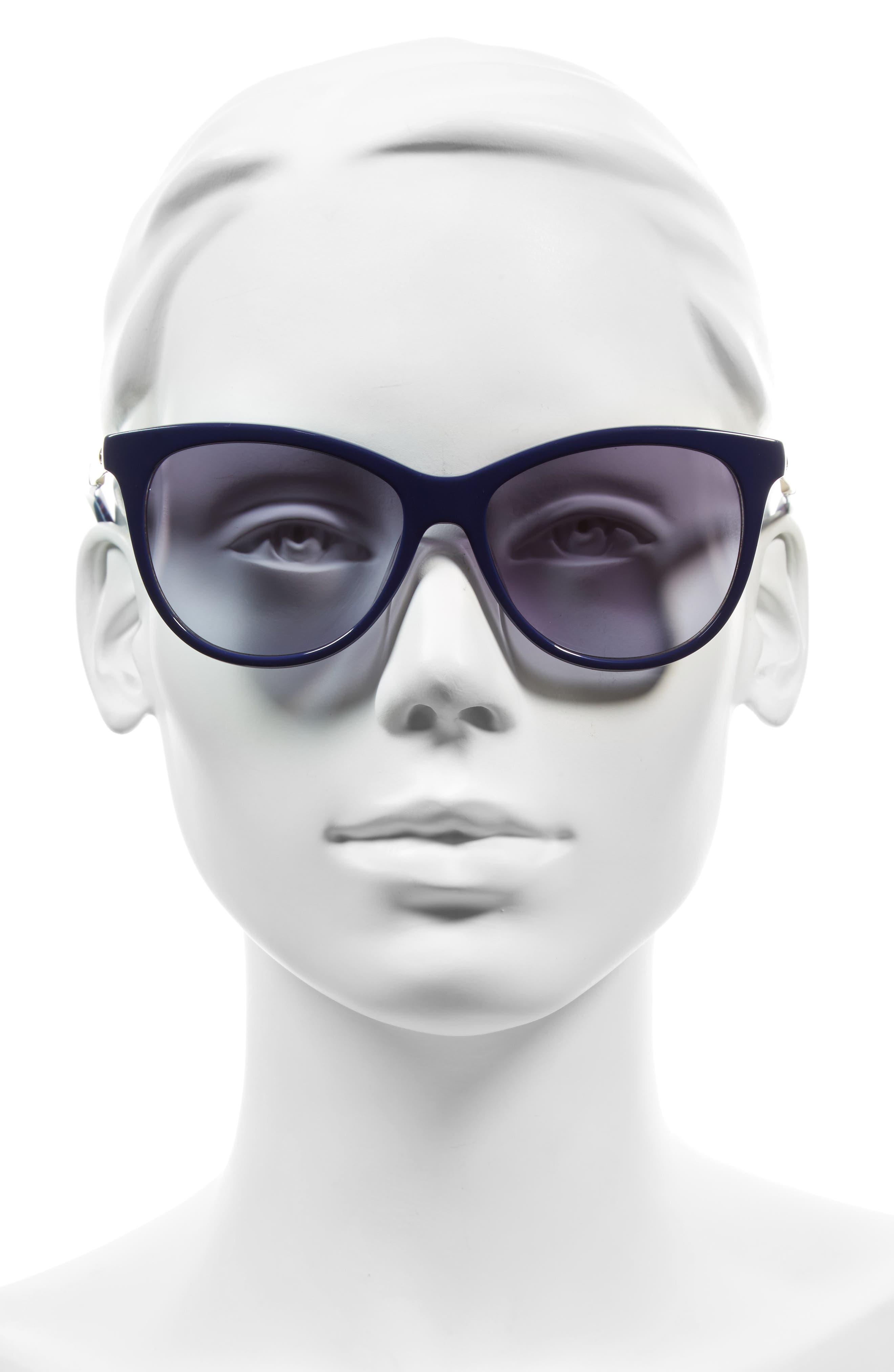 Alternate Image 2  - kate spade new york jizelle 55mm Gradient Lenses Cat Eye Sunglasses