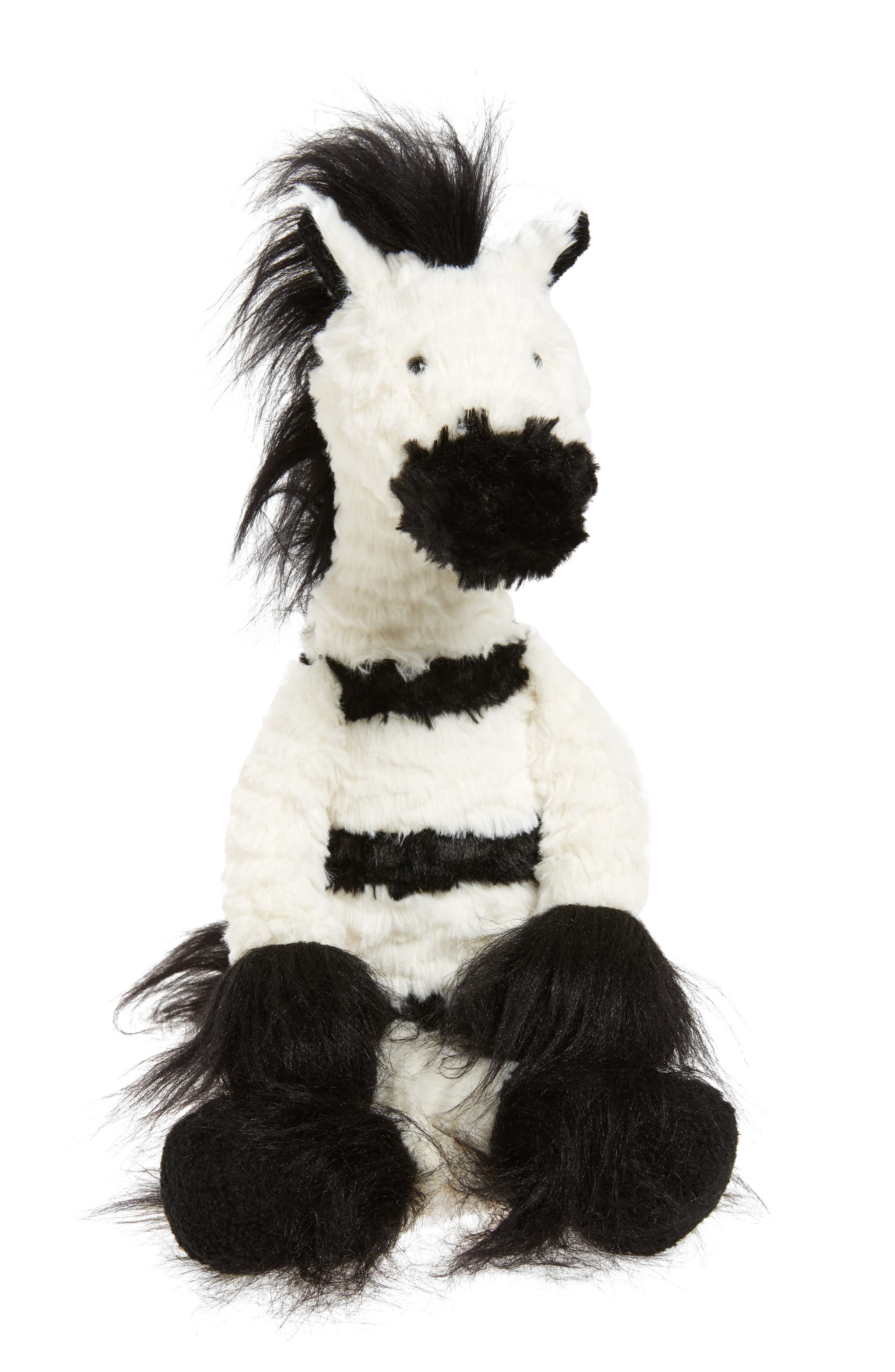 Dainty Zebra Stuffed Animal,                             Main thumbnail 1, color,                             Cream And Black