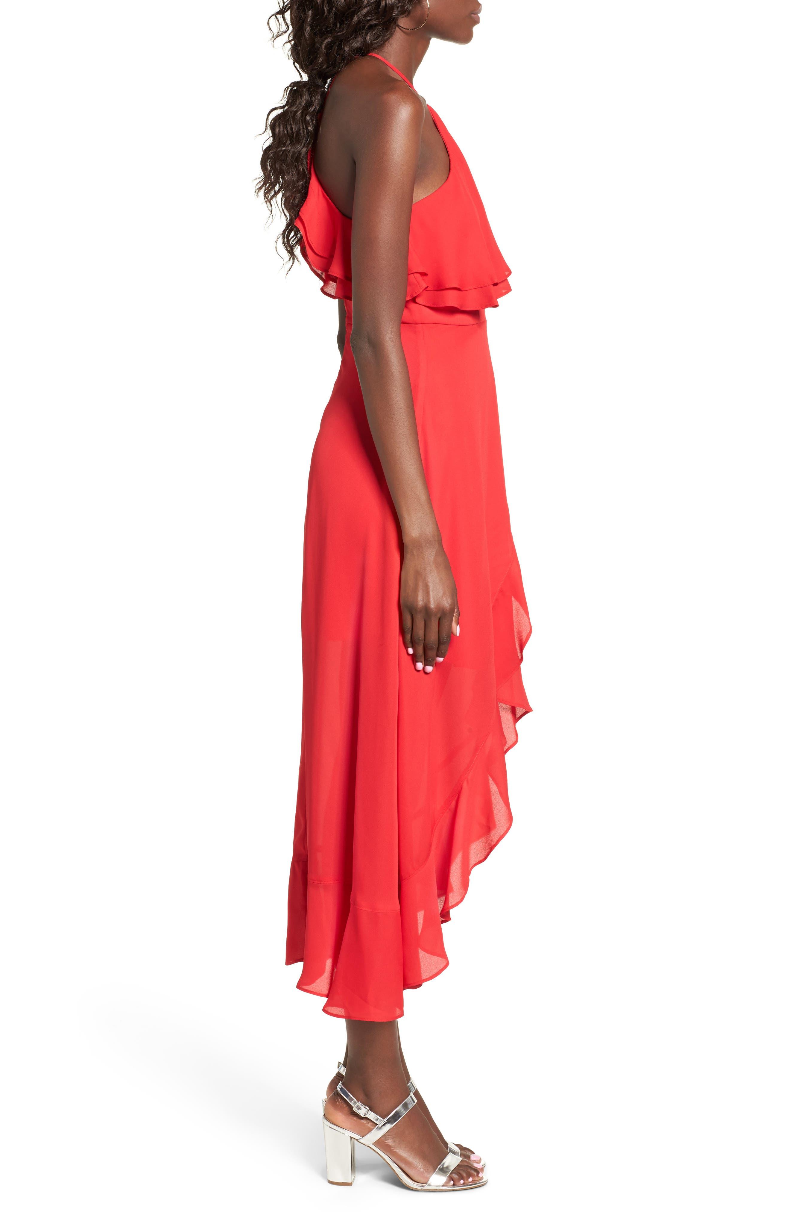 Alternate Image 3  - Dee Elly Ruffle Halter Midi Dress