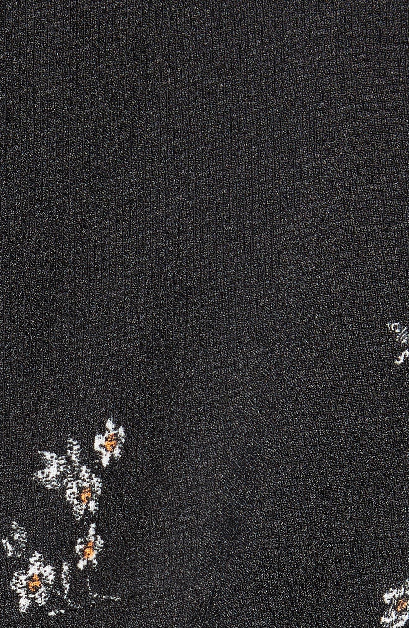 Florence Lili Floral Top,                             Alternate thumbnail 5, color,                             Black Multi
