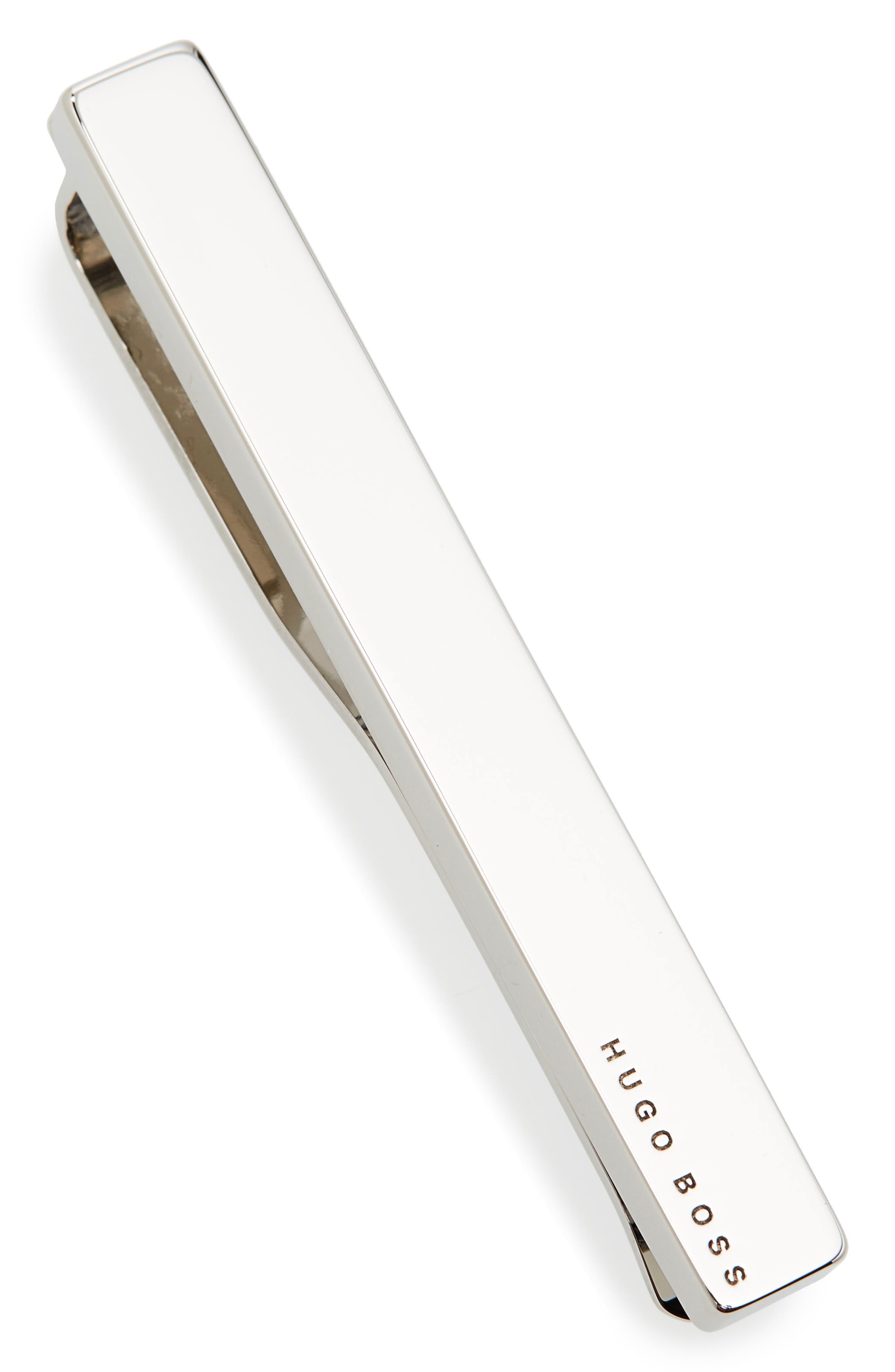 Tennyson Tie Clip,                         Main,                         color, Silver