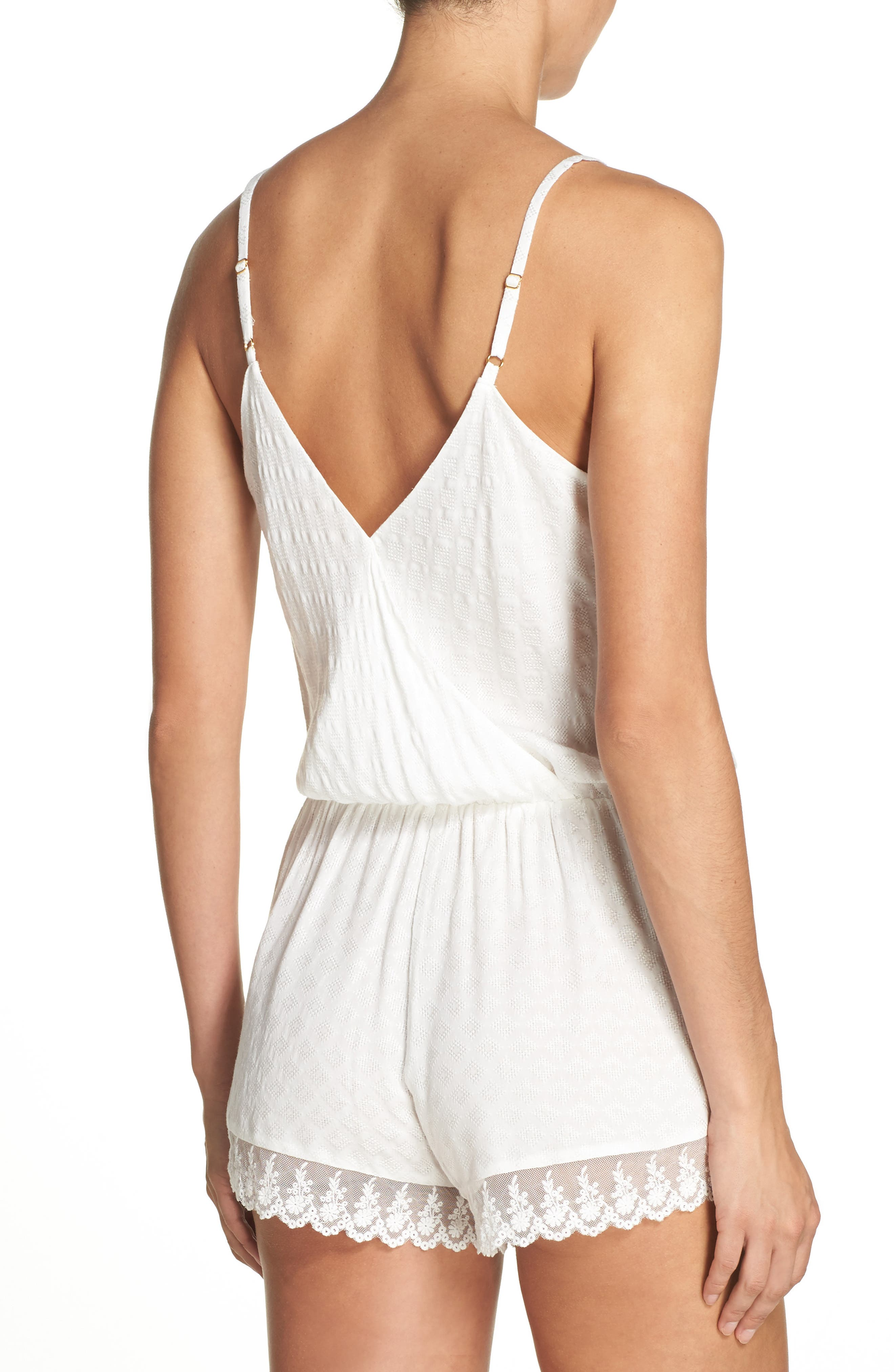 Laurel Romper,                             Alternate thumbnail 2, color,                             Ivory