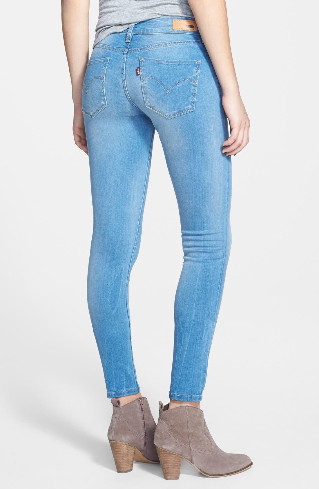 Alternate Image 2  - Levi's® Super Skinny Jeans (Indigo)