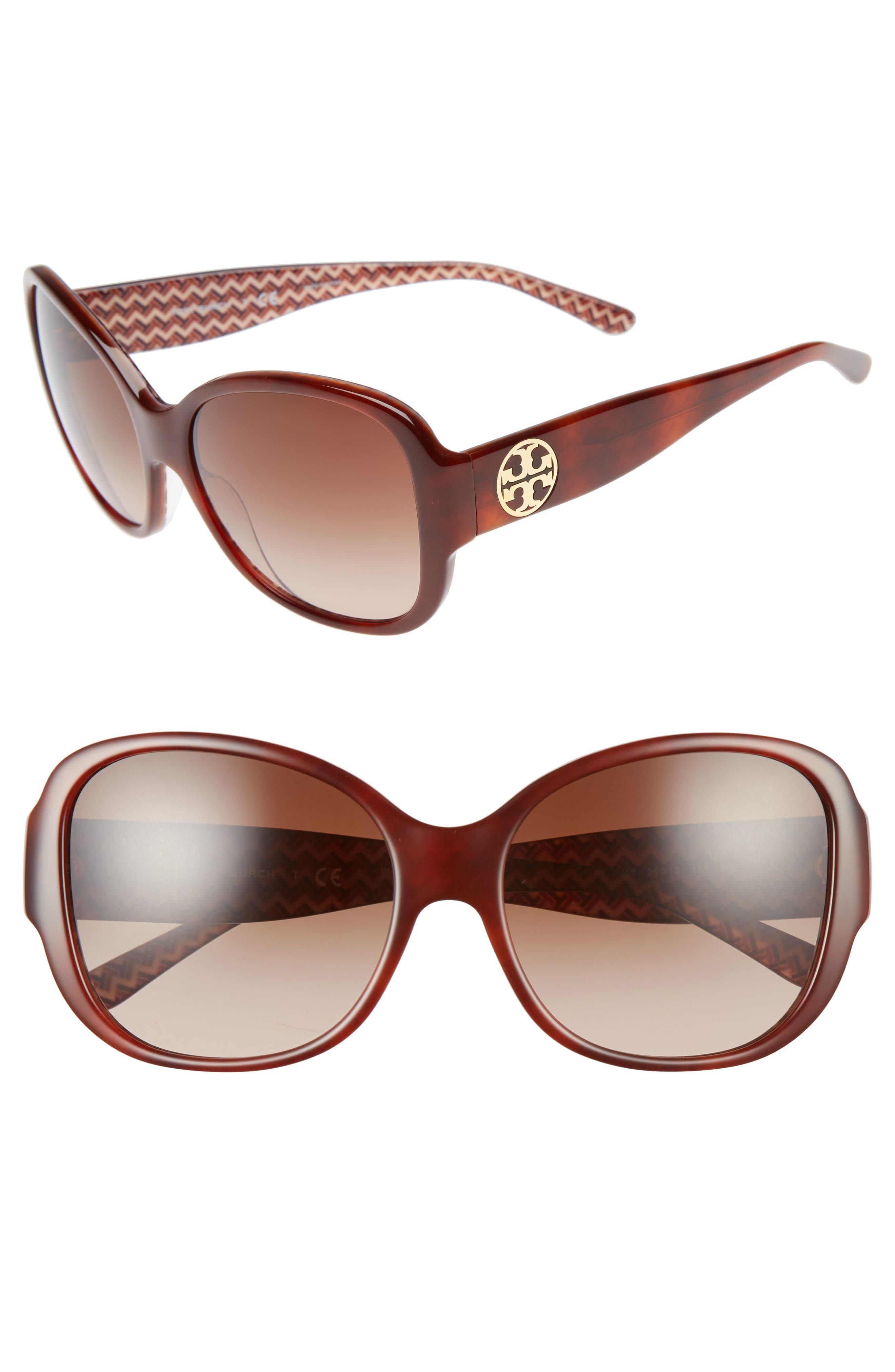 Tory Burch 56mm Gradient Retro Sunglasses