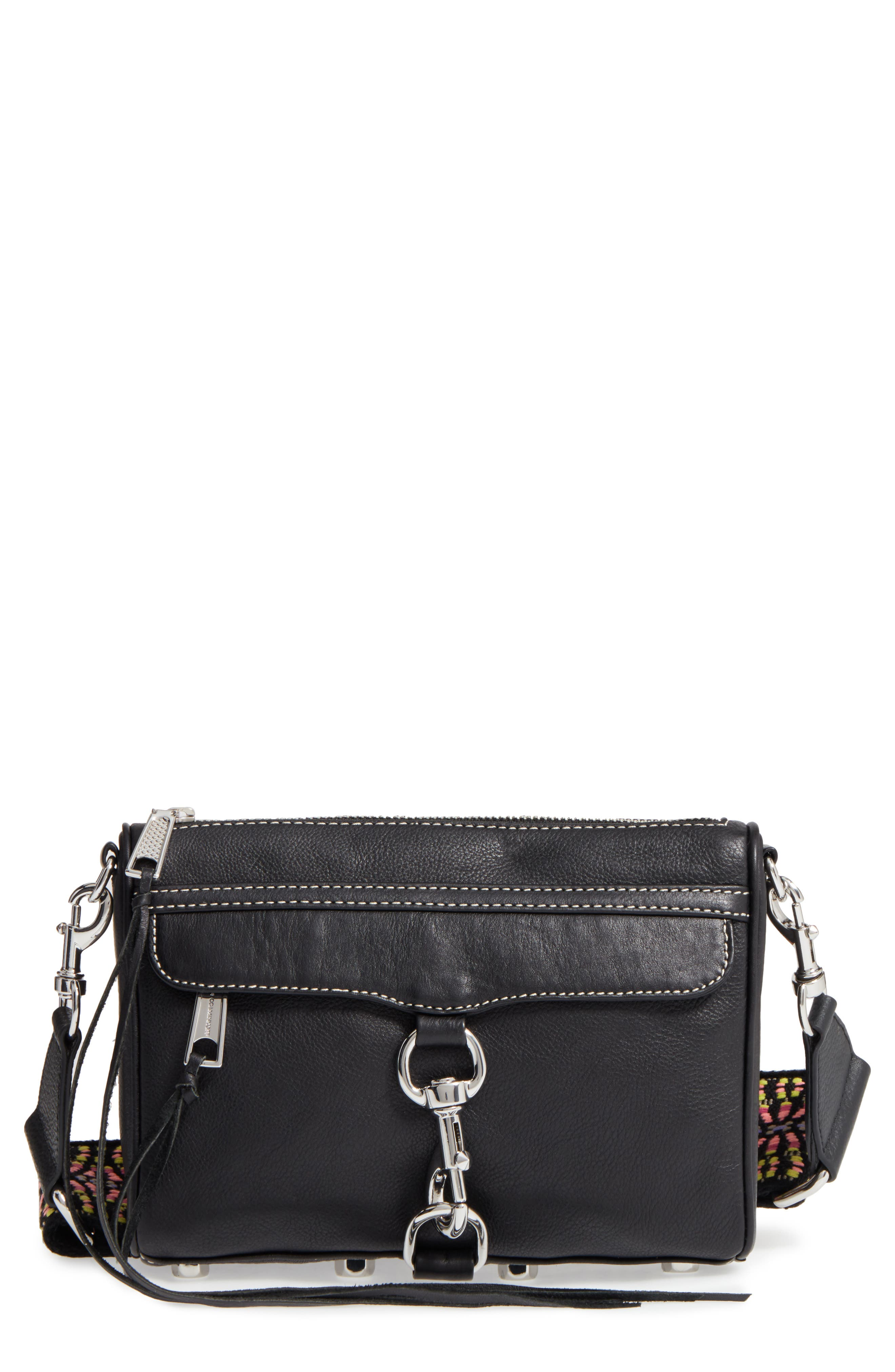 Alternate Image 1 Selected - Rebecca Minkoff Mini MAC Leather Crossbody Bag with Guitar Strap (Nordstrom Exclusive)