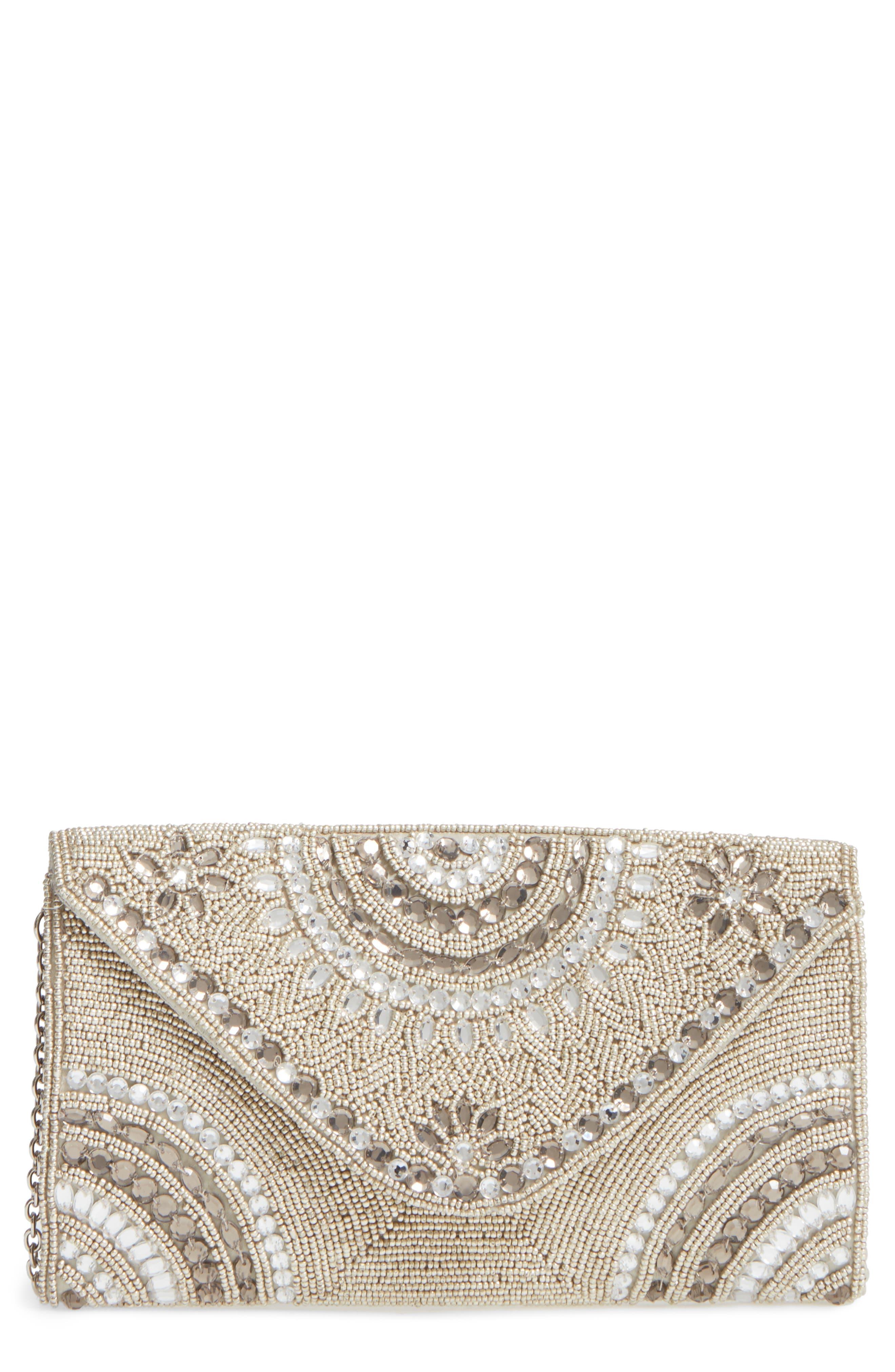 Main Image - Glint 'Alhambra' Embellished Envelope Clutch