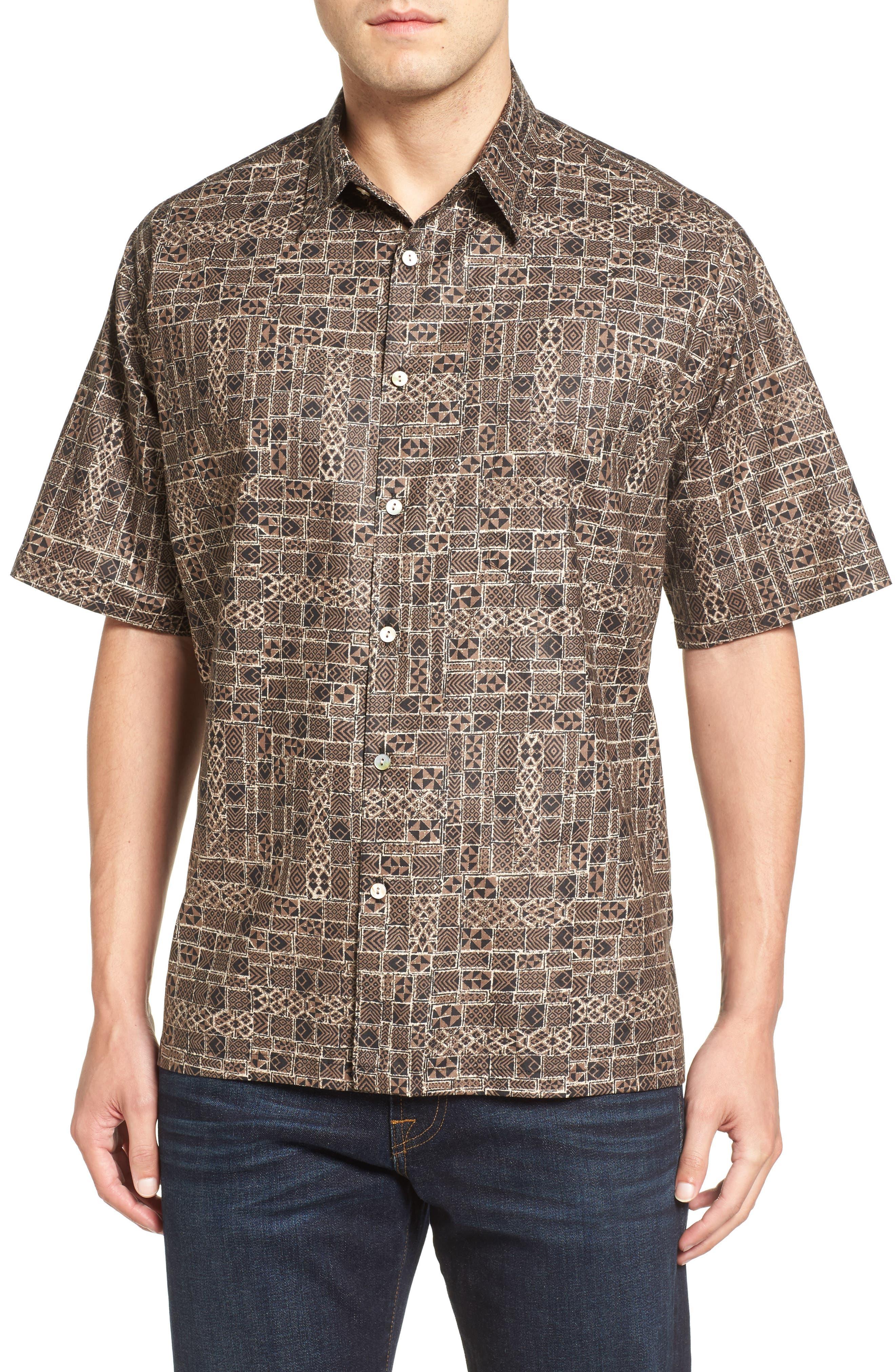 Tori Richard Tactiles Short Sleeve Classic Fit Sport Shirt