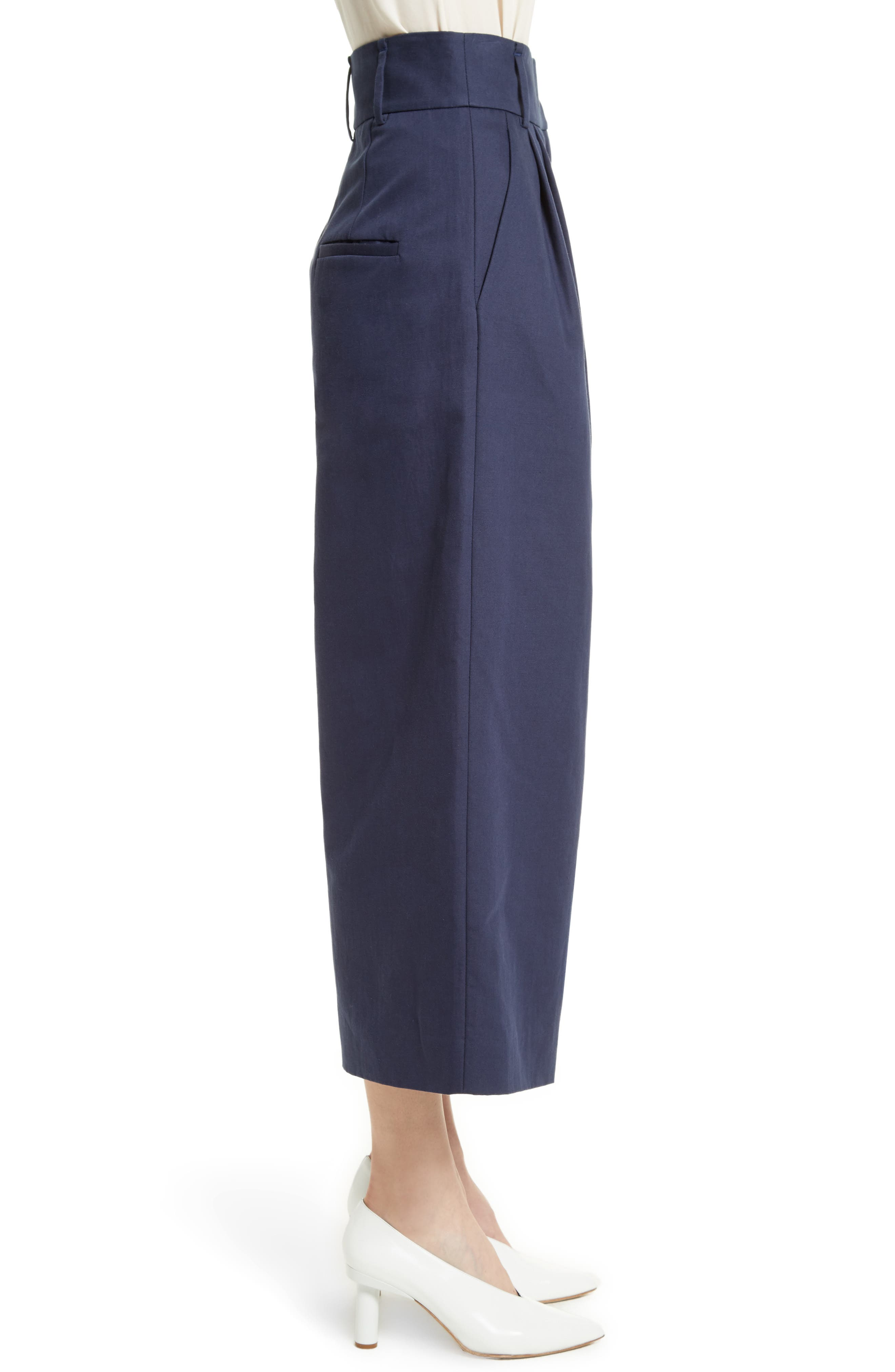 Chassis Plain Weave Crop Pants,                             Alternate thumbnail 4, color,                             Navy