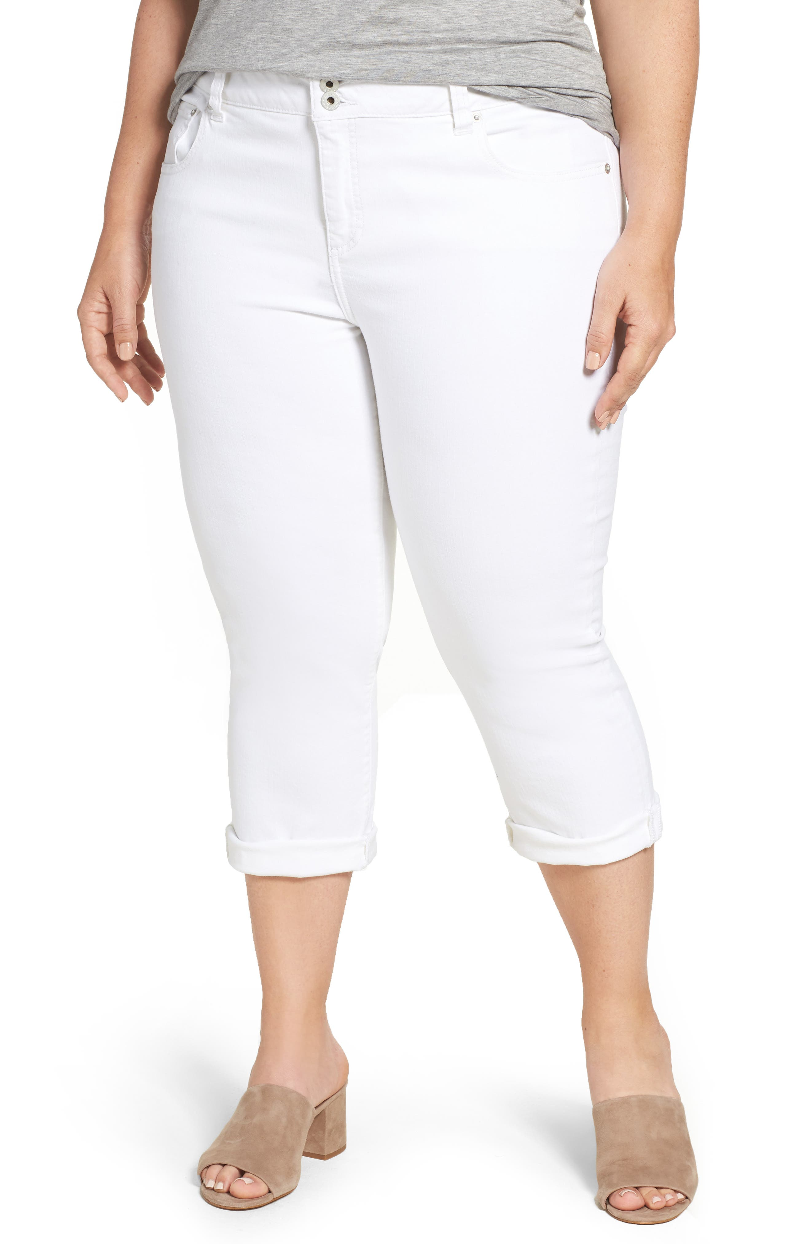 Emma Stretch Crop Jeans,                             Main thumbnail 1, color,                             Clean White