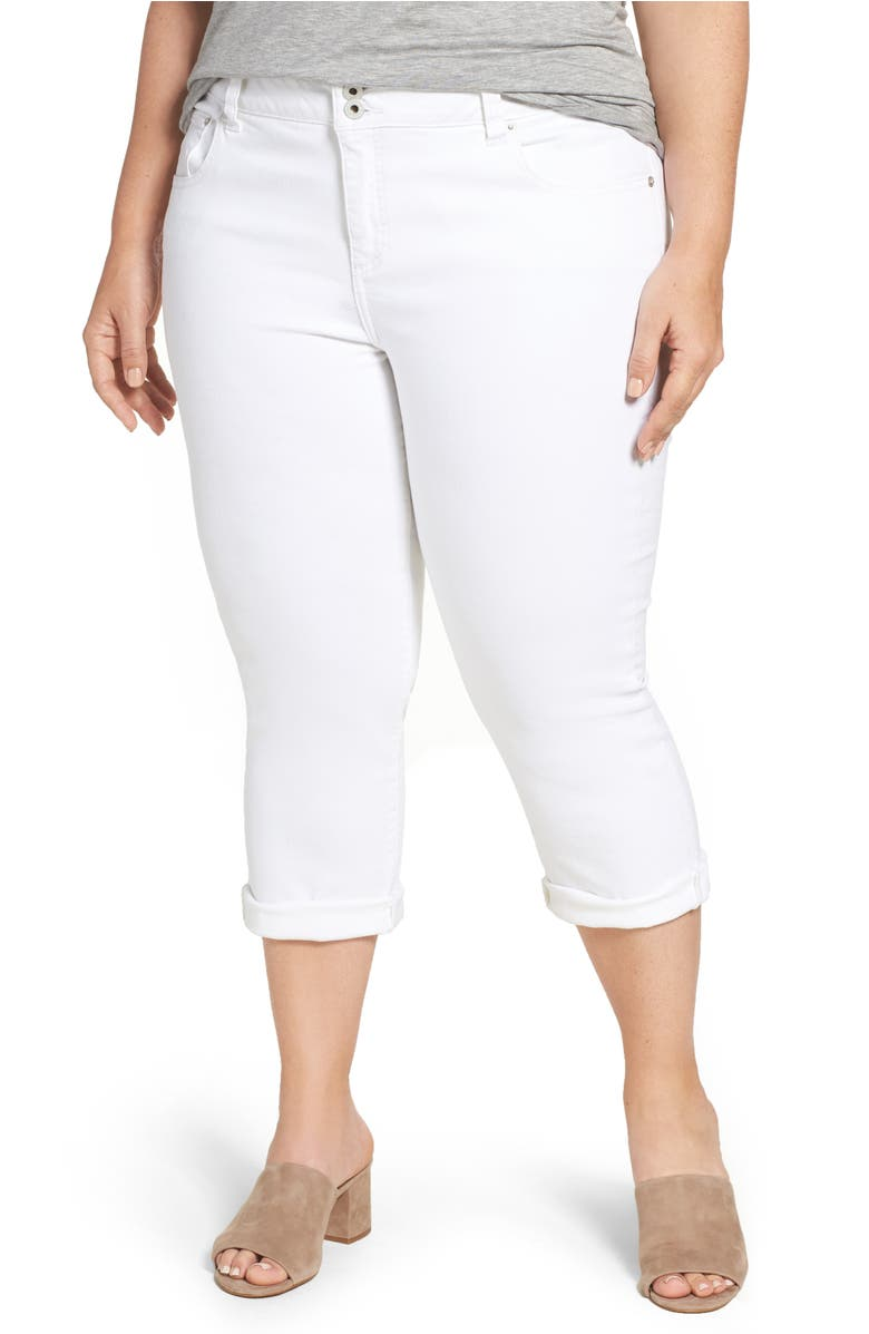 Emma Stretch Crop Jeans,                         Main,                         color, Clean White