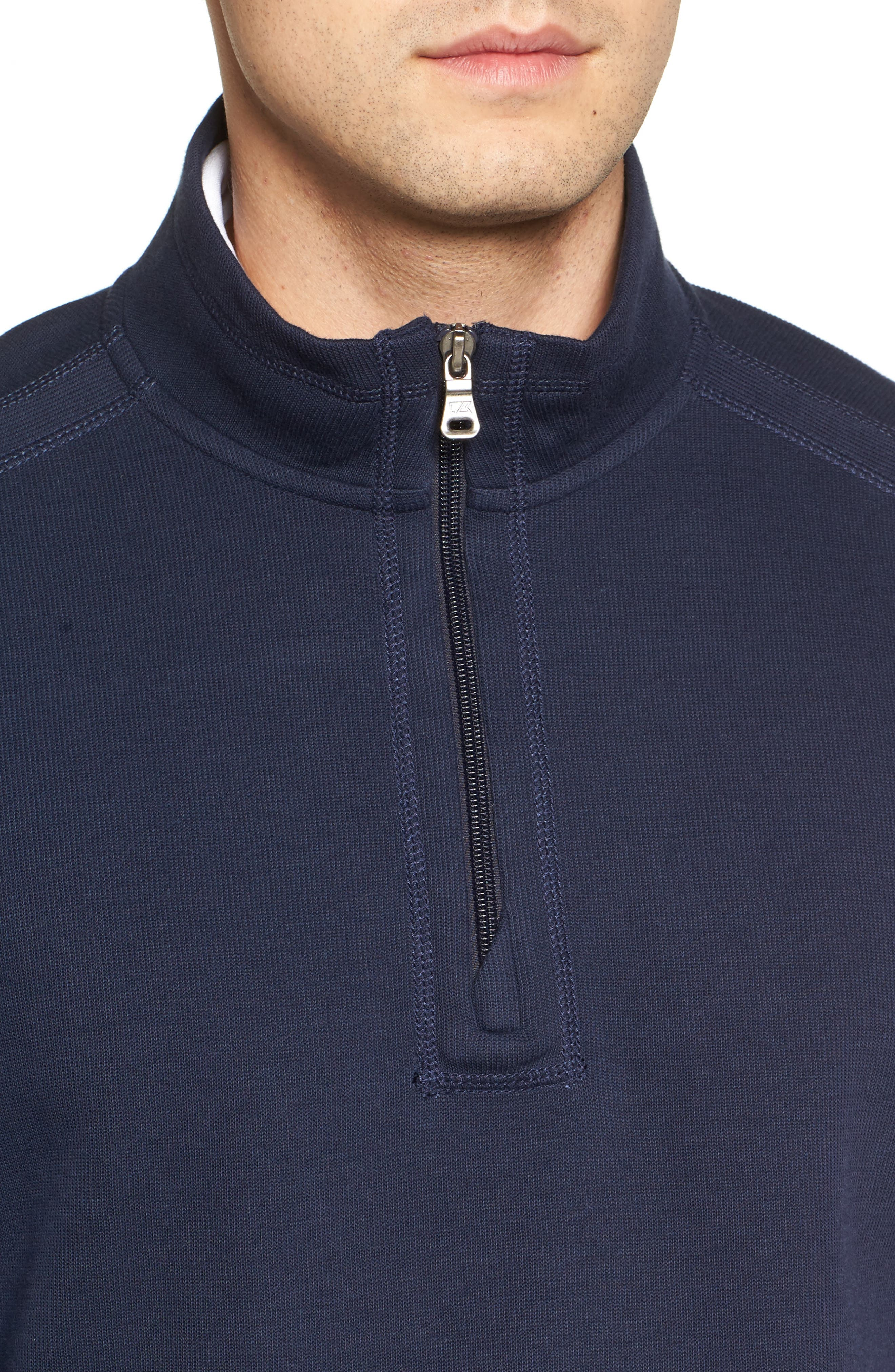 Bayview Quarter Zip Pullover,                             Alternate thumbnail 4, color,                             Liberty Navy