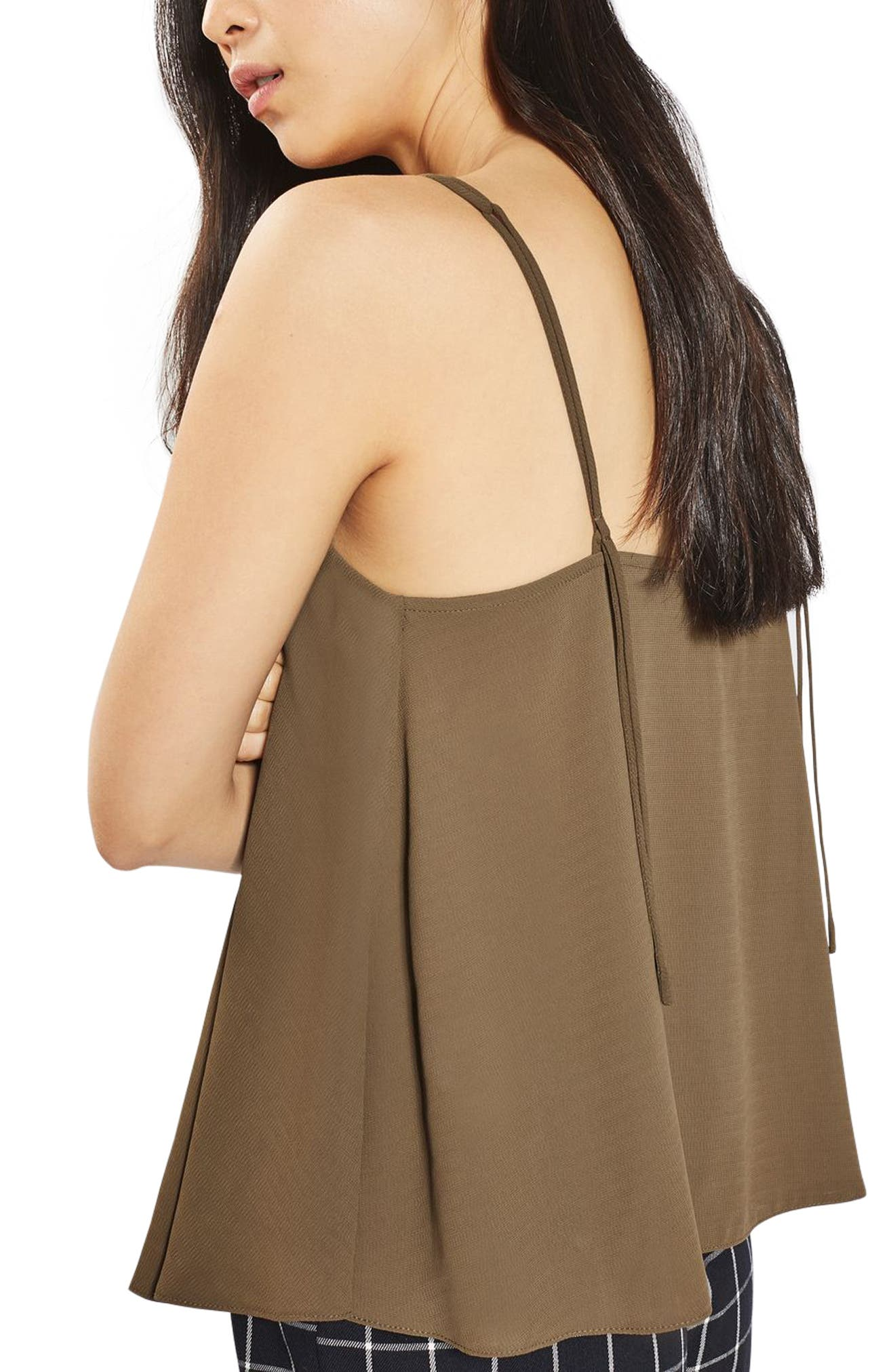 Rouleau Swing Camisole,                             Alternate thumbnail 3, color,                             Olive