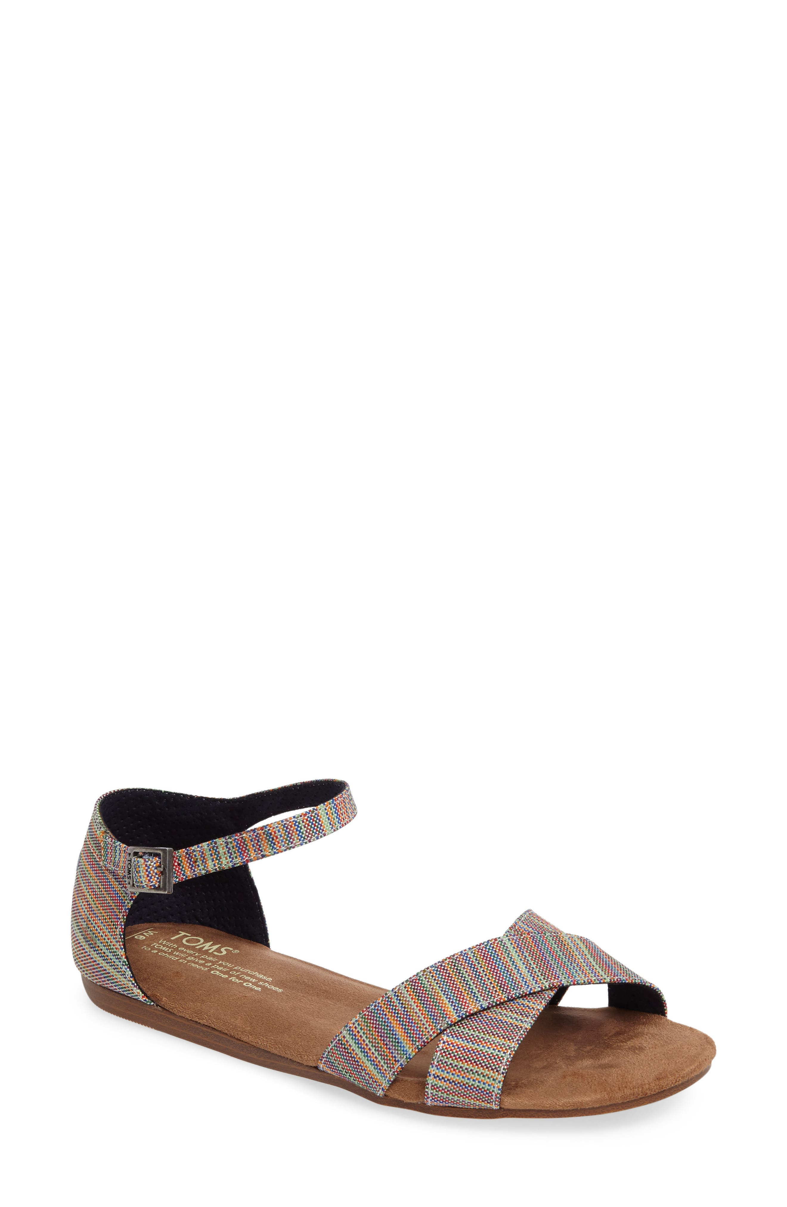 Correa Sandal,                         Main,                         color, Blue Multi
