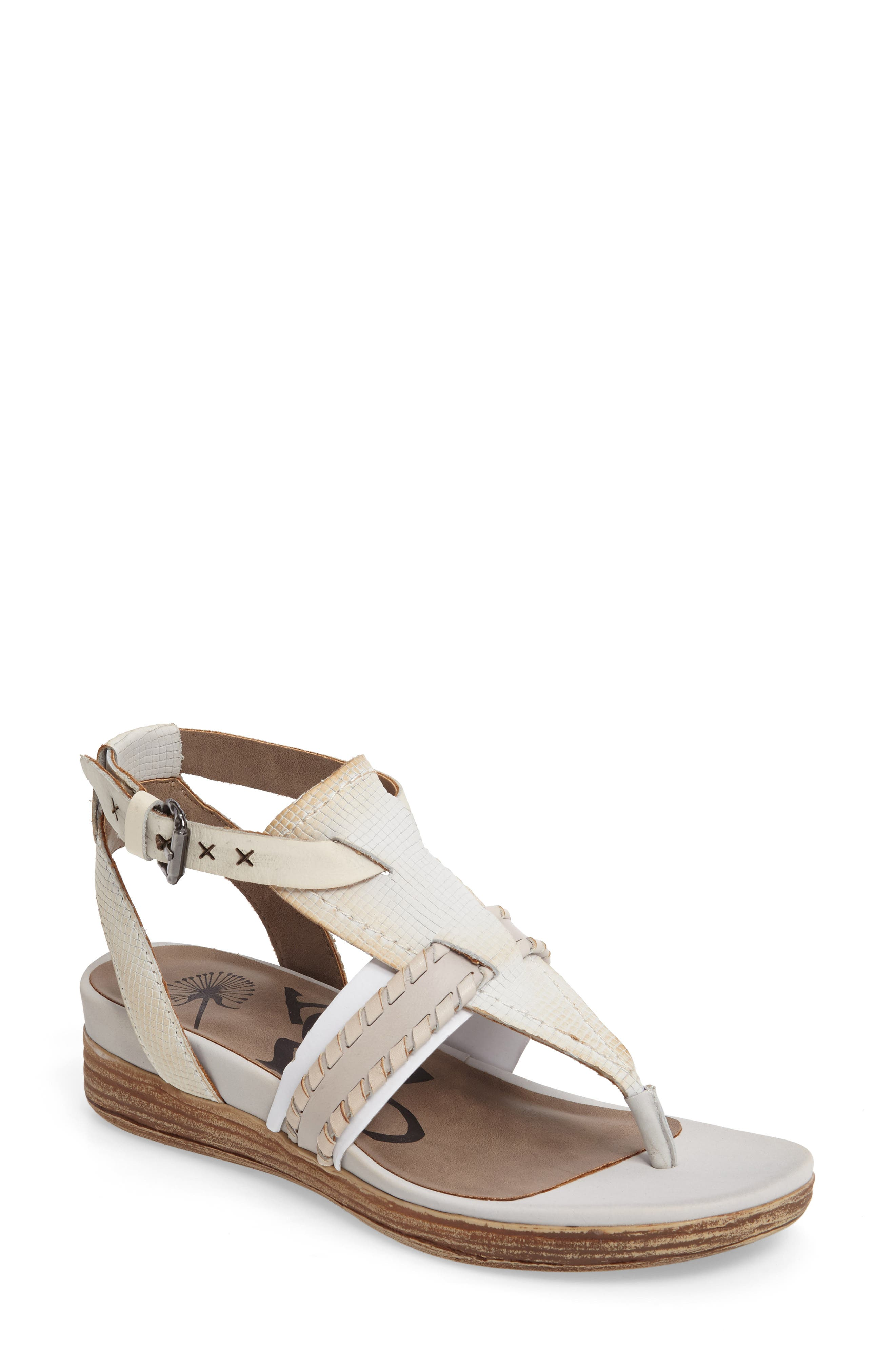 Celestial V-Strap Wedge Sandal,                         Main,                         color, Light Clay Leather