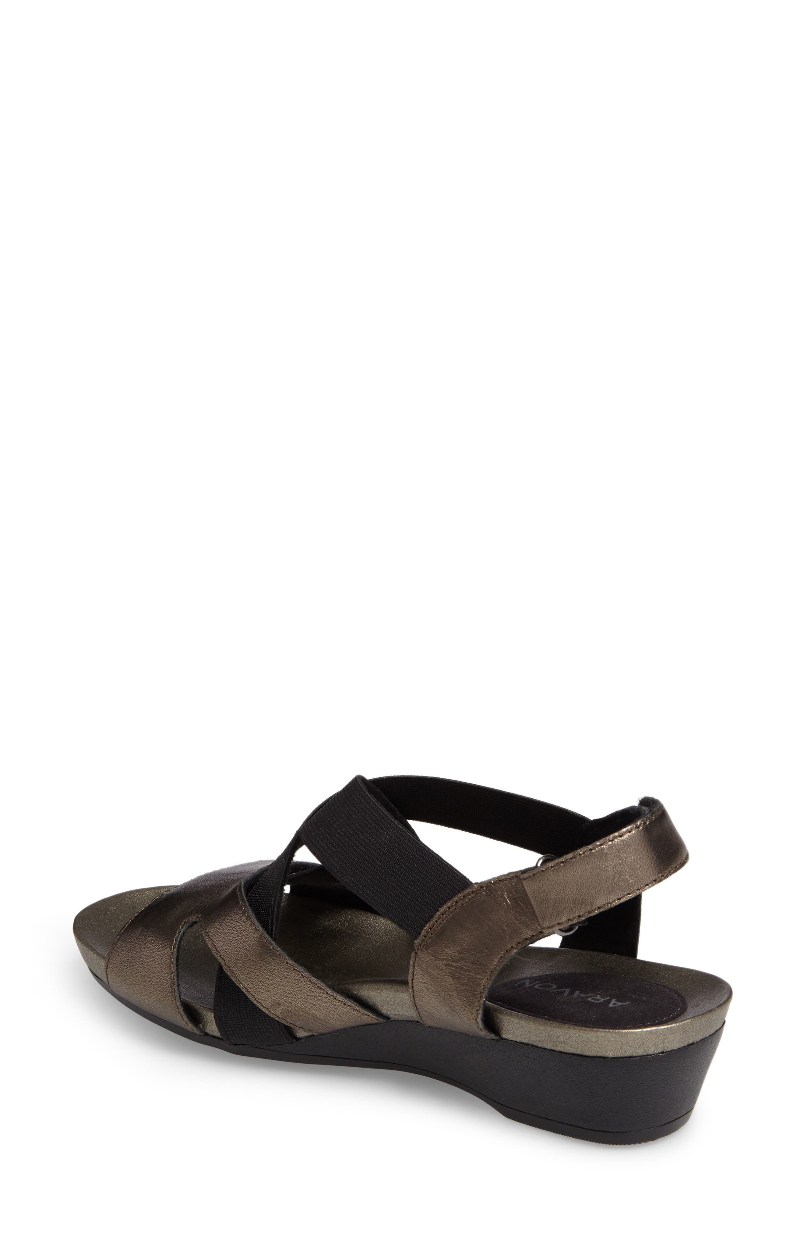 Standon Cross Strap Sandal,                             Alternate thumbnail 2, color,                             Pewter Fabric